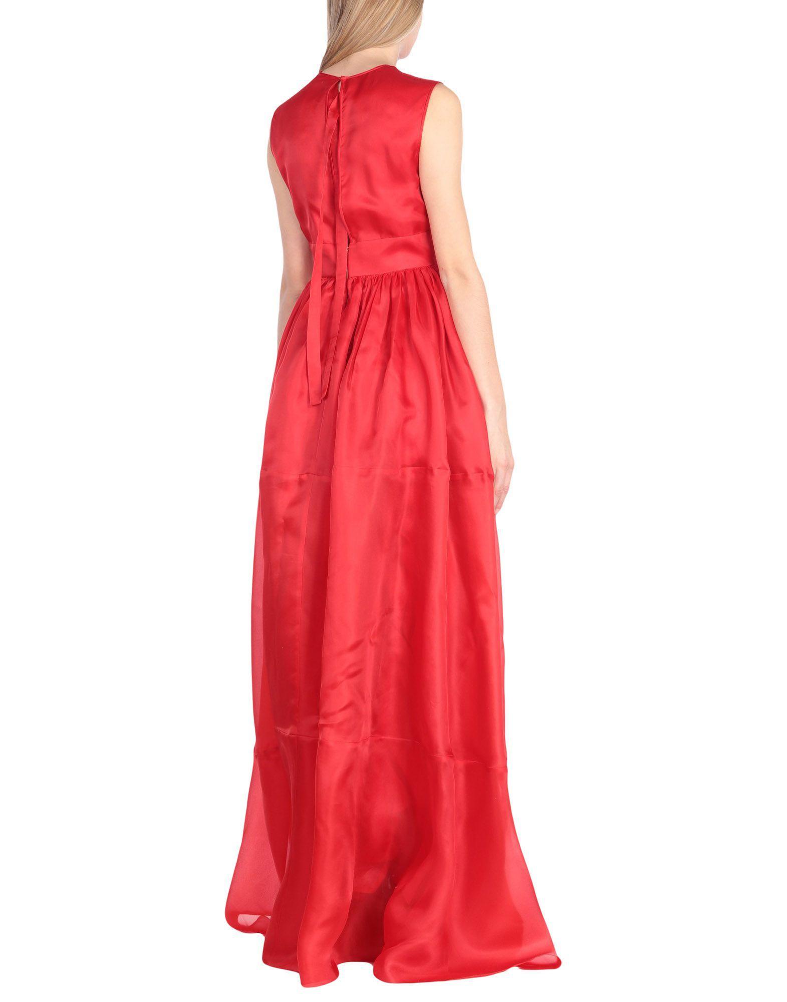 8526311efed Lyst - Robe longue Rochas en coloris Rouge