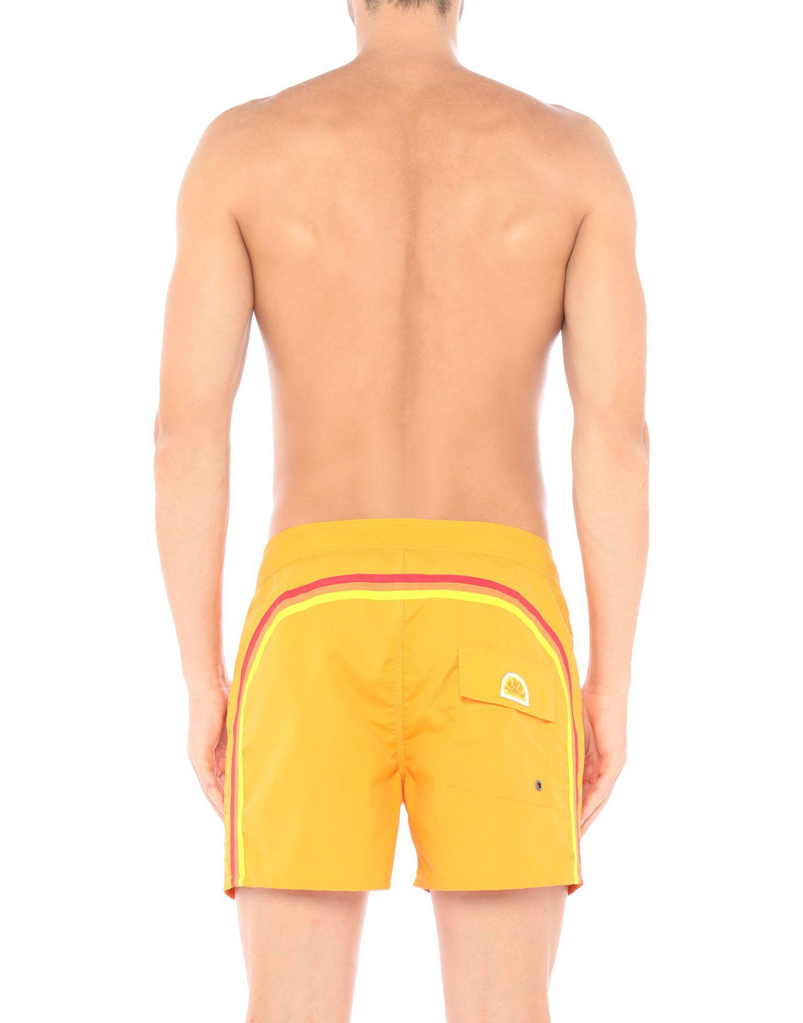 ff26bd981b27a Sundek Beach Shorts And Pants in Orange for Men - Lyst