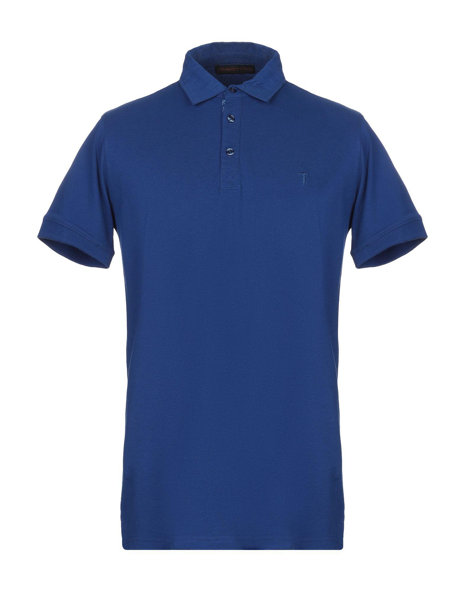 92e2433c1c5d Lyst - Trussardi Polo Shirt in Blue for Men