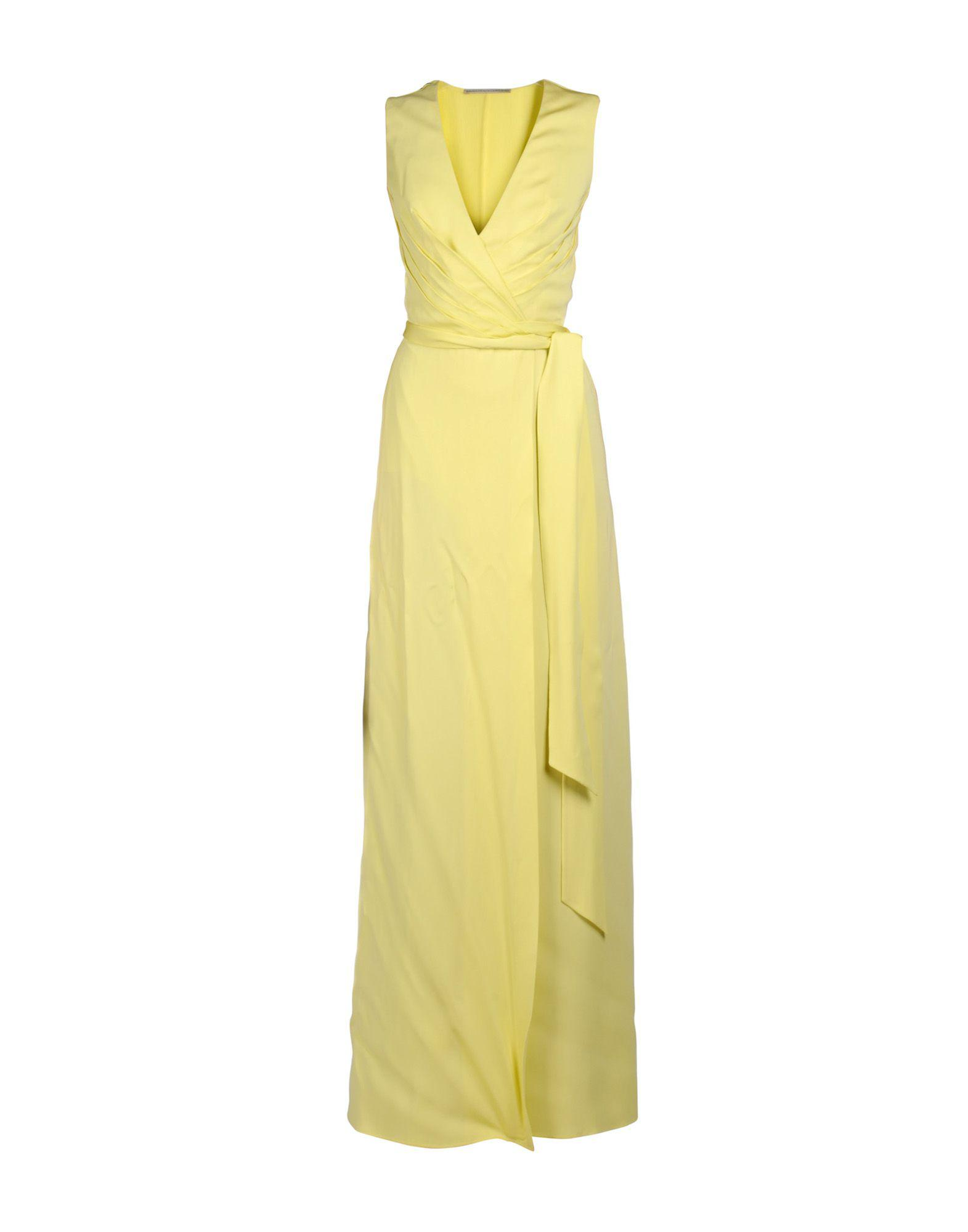 05536524 Ermanno Scervino Long Dress in Yellow - Lyst