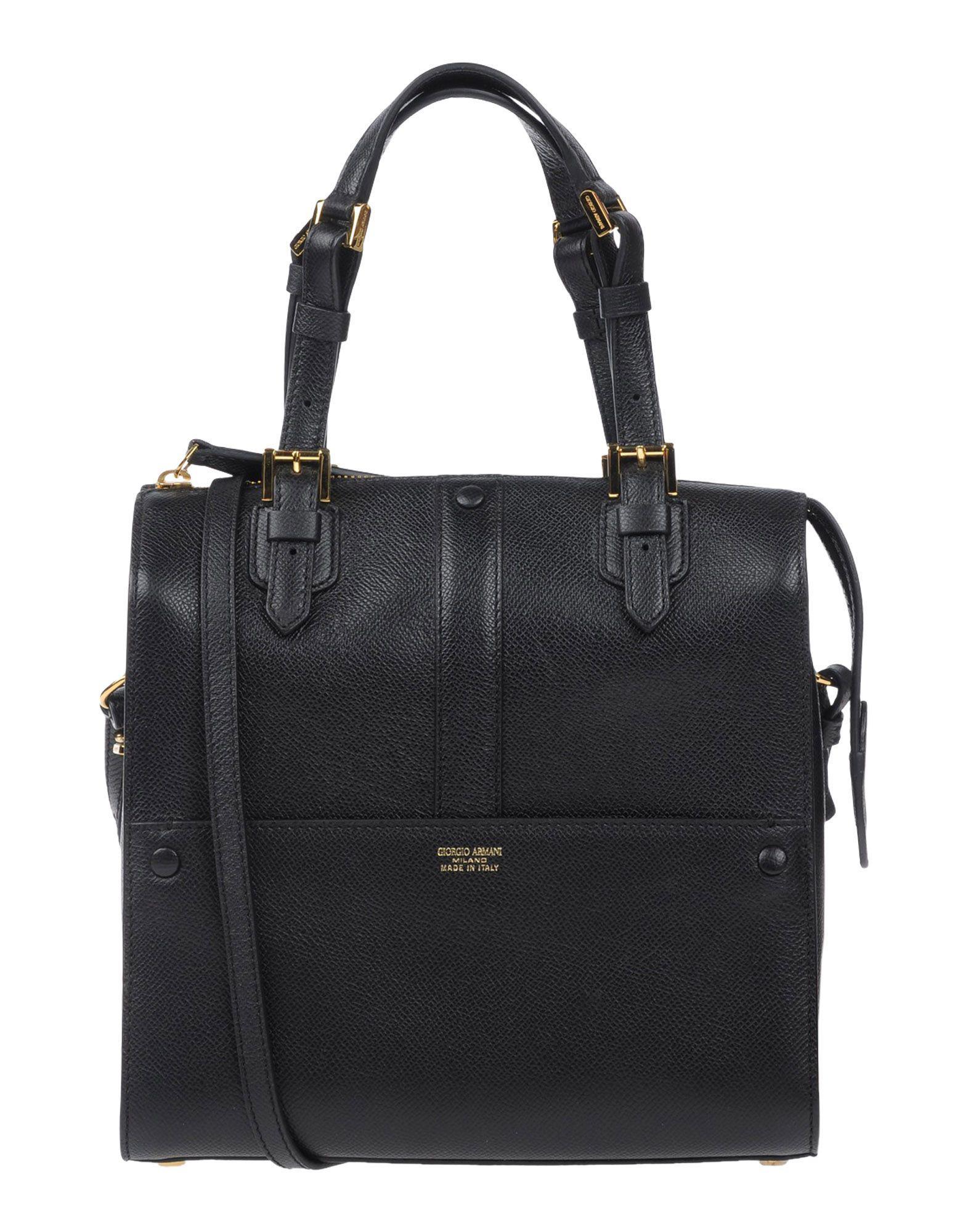 48c17faa1cd5 Lyst - Giorgio Armani Handbag in Black