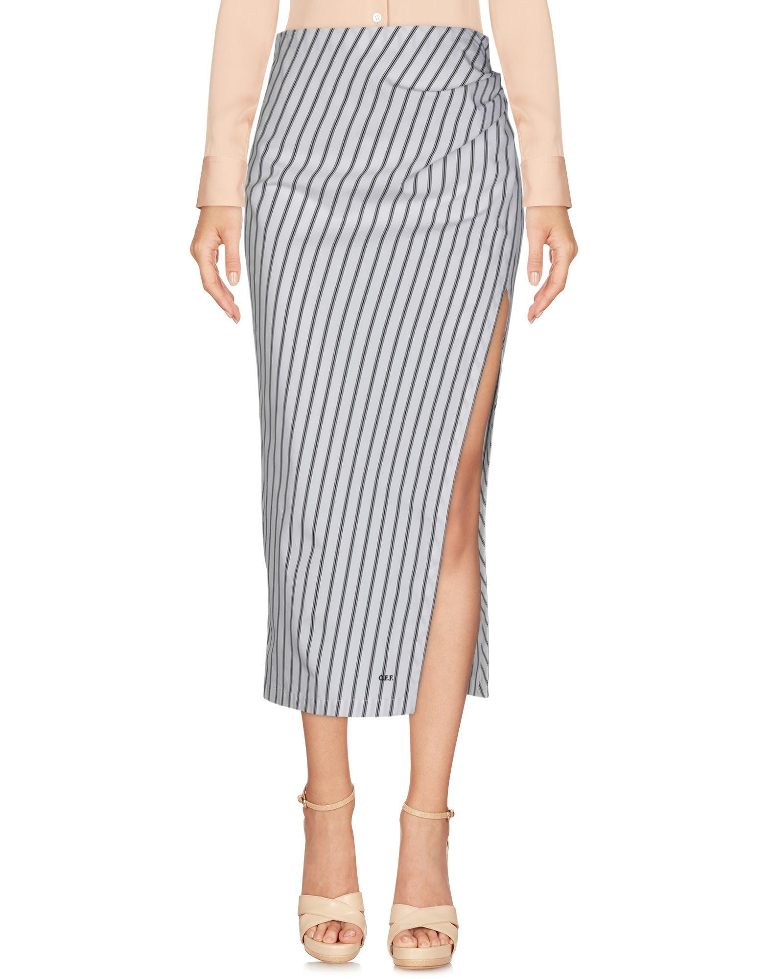 15676b7d1092 Off-White c o Virgil Abloh 3 4 Length Skirt in White - Save 66% - Lyst