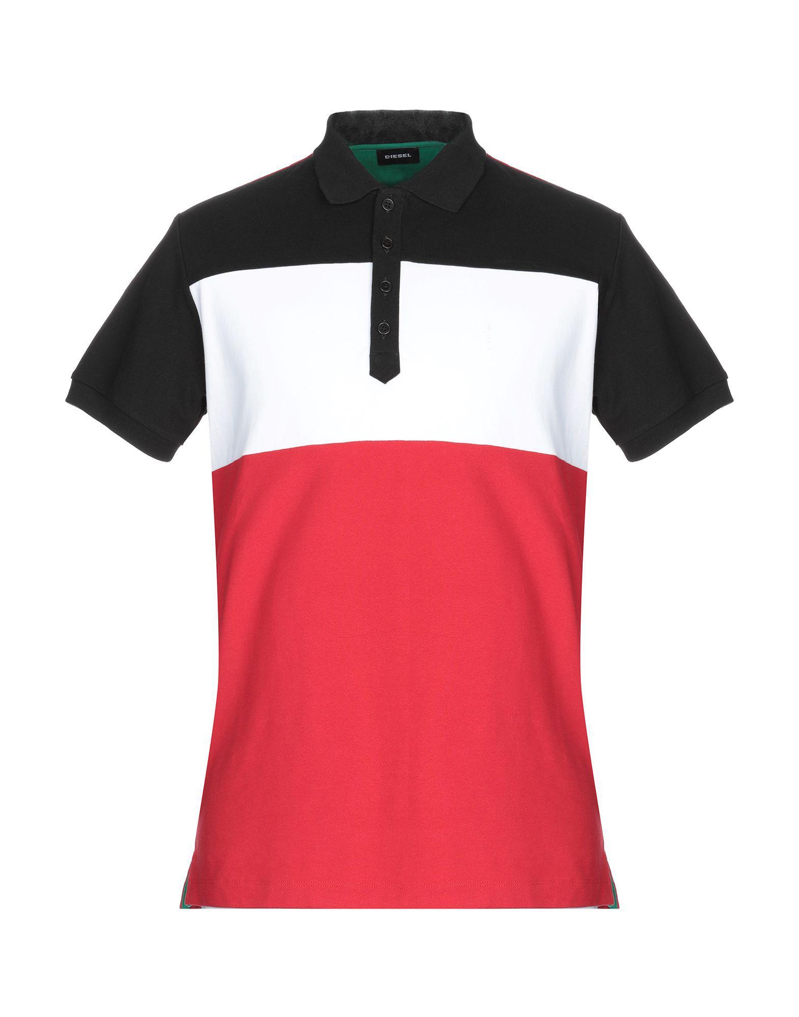 eca5ebab DIESEL - Red Polo Shirt for Men - Lyst. View fullscreen