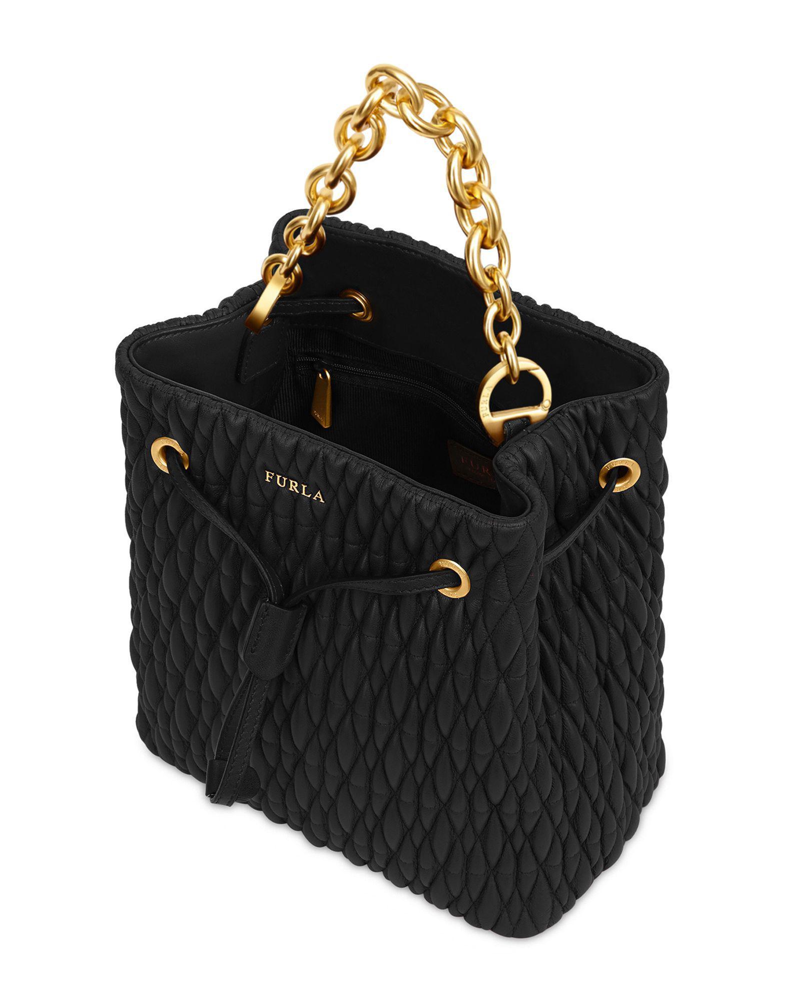 42134309c596 Lyst - Furla Handbag in Black - Save 38%