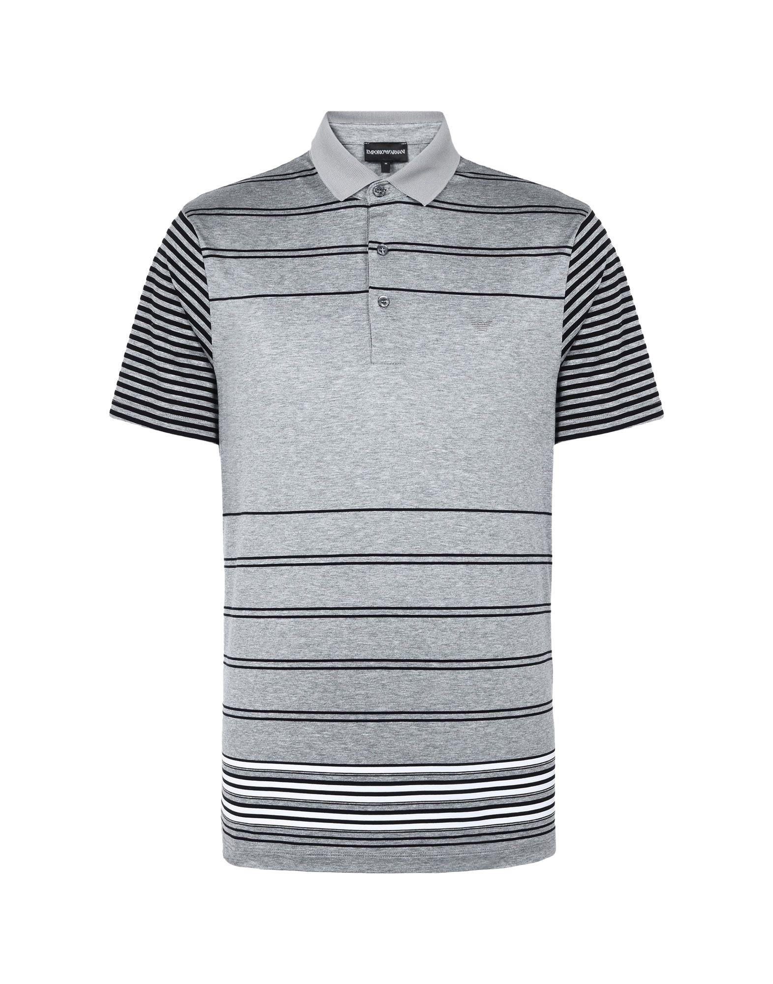 628c09244c1 Lyst - Emporio Armani Polo Shirt in Gray for Men