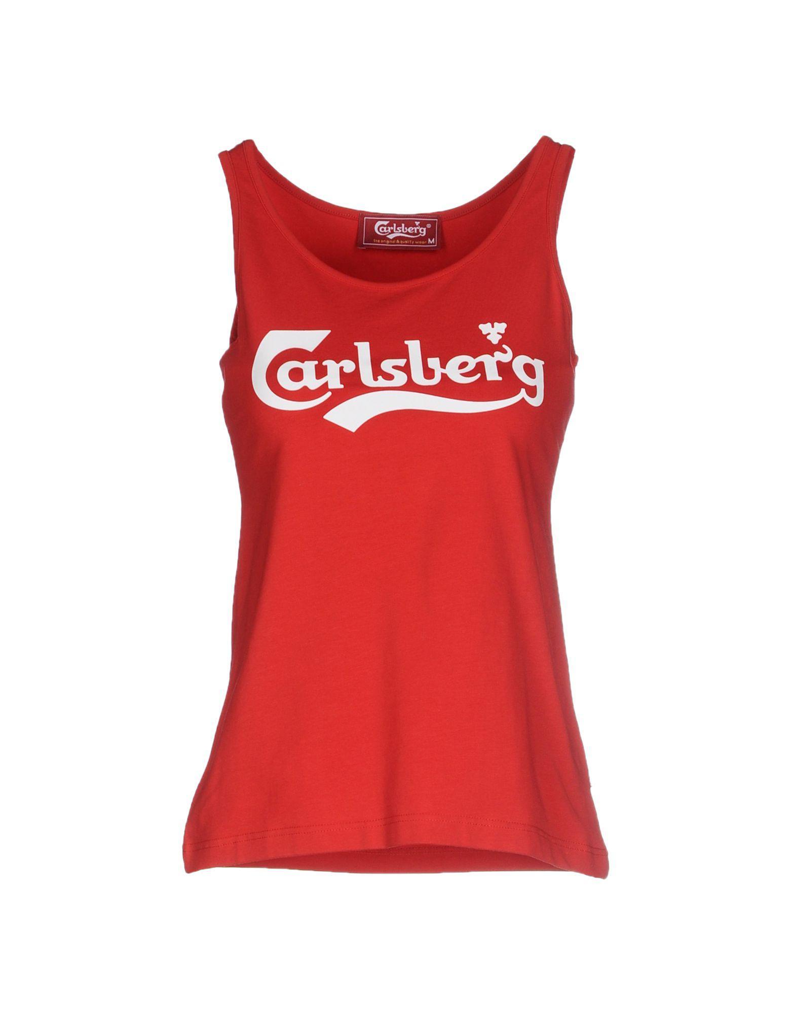 Color De Tirantes Camiseta Carlsberg Lyst Rojo WpcRYqxS