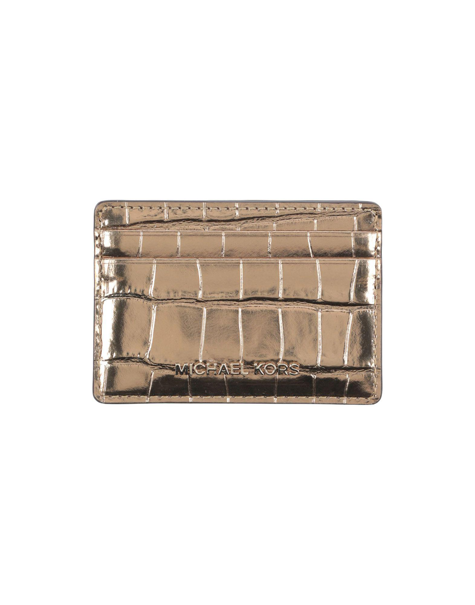bafddac49c9d Lyst - Michael Michael Kors Document Holders in Metallic