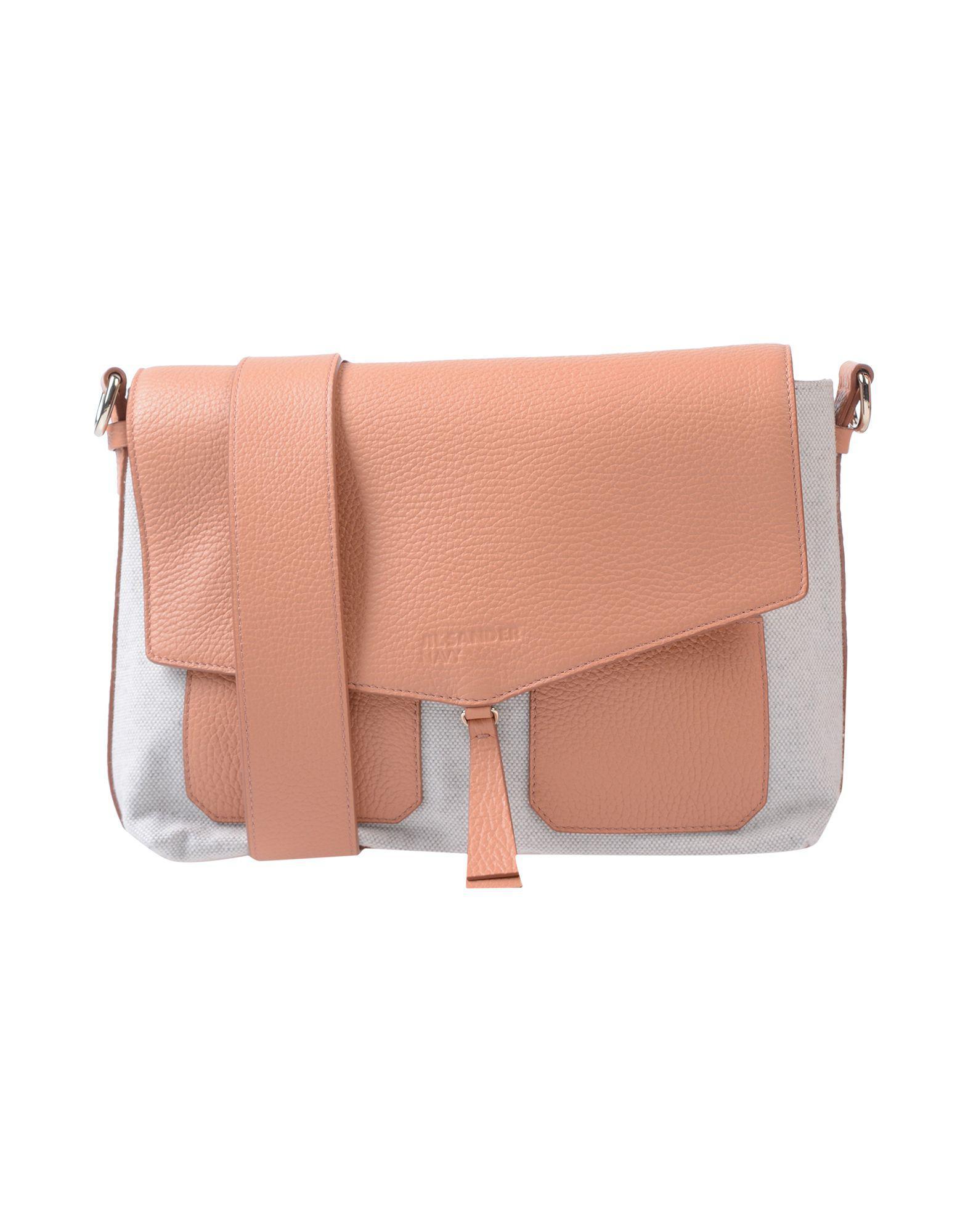 Jil Sander Navy Shoulder Bag in Pink - Lyst b6e6f0f5c9a33