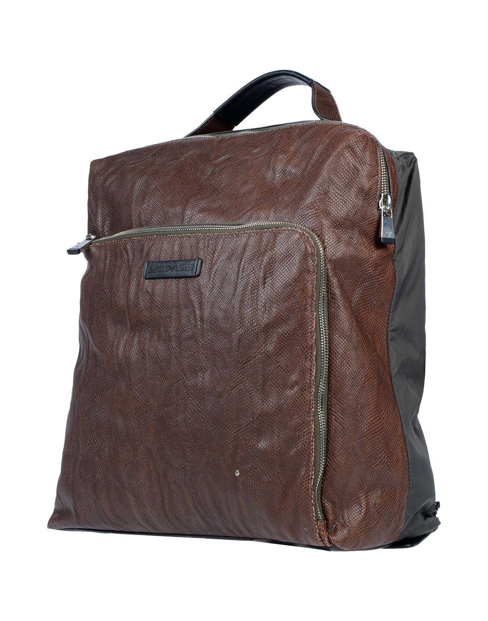 Emporio Armani Backpacks   Bum Bags in Brown for Men - Lyst 32a94e7586009