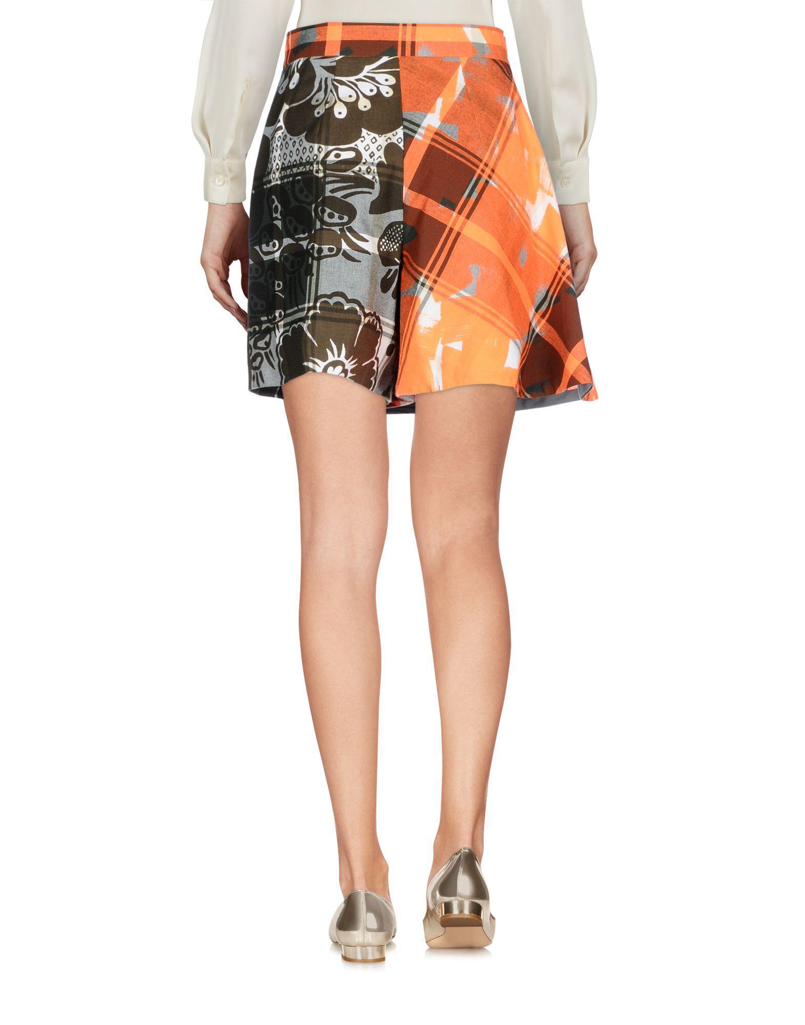 a333aa6c7a Vivienne Westwood Mini Skirt in Orange - Lyst
