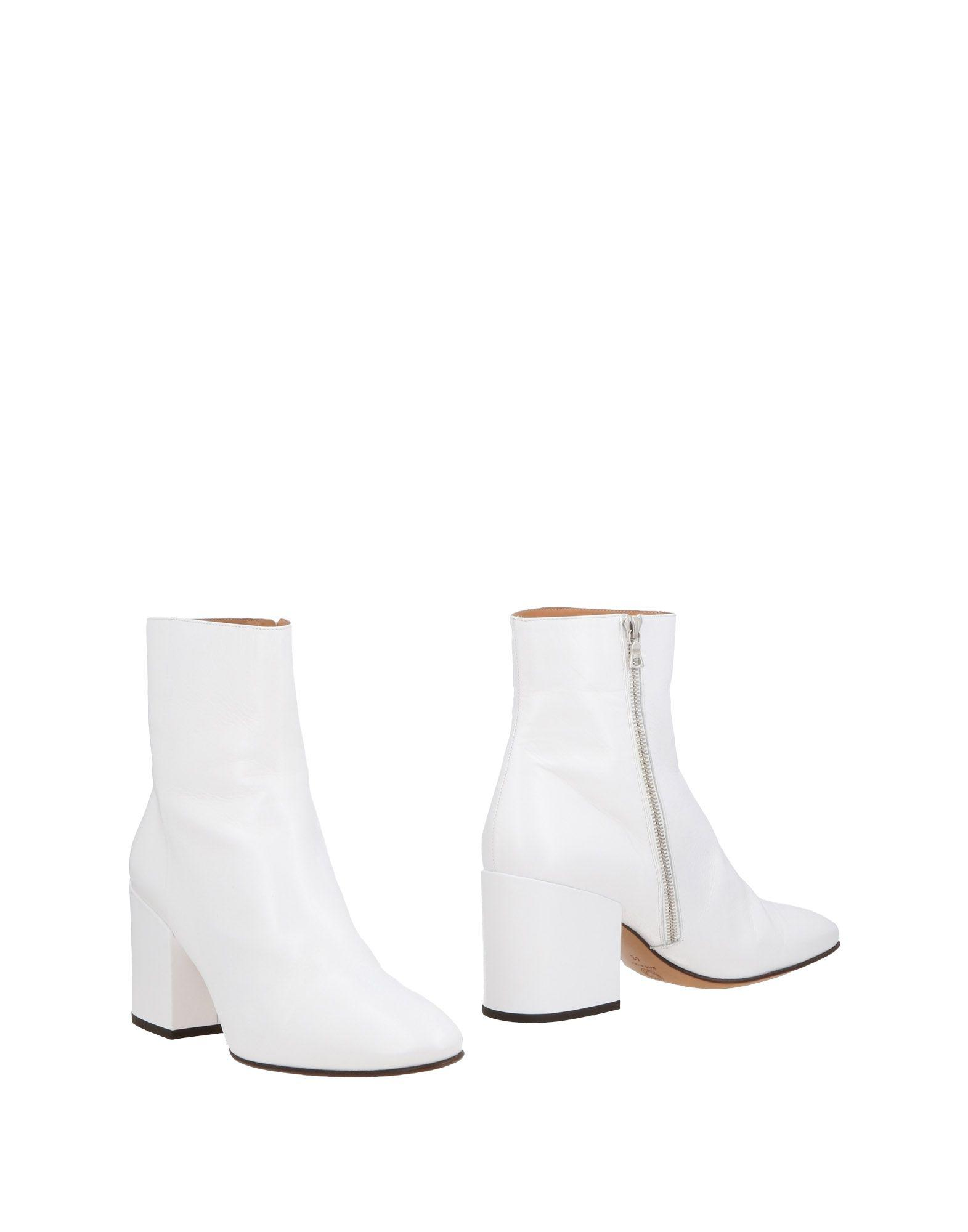 fb0032cc24 Dries Van Noten Ankle Boots in White - Lyst