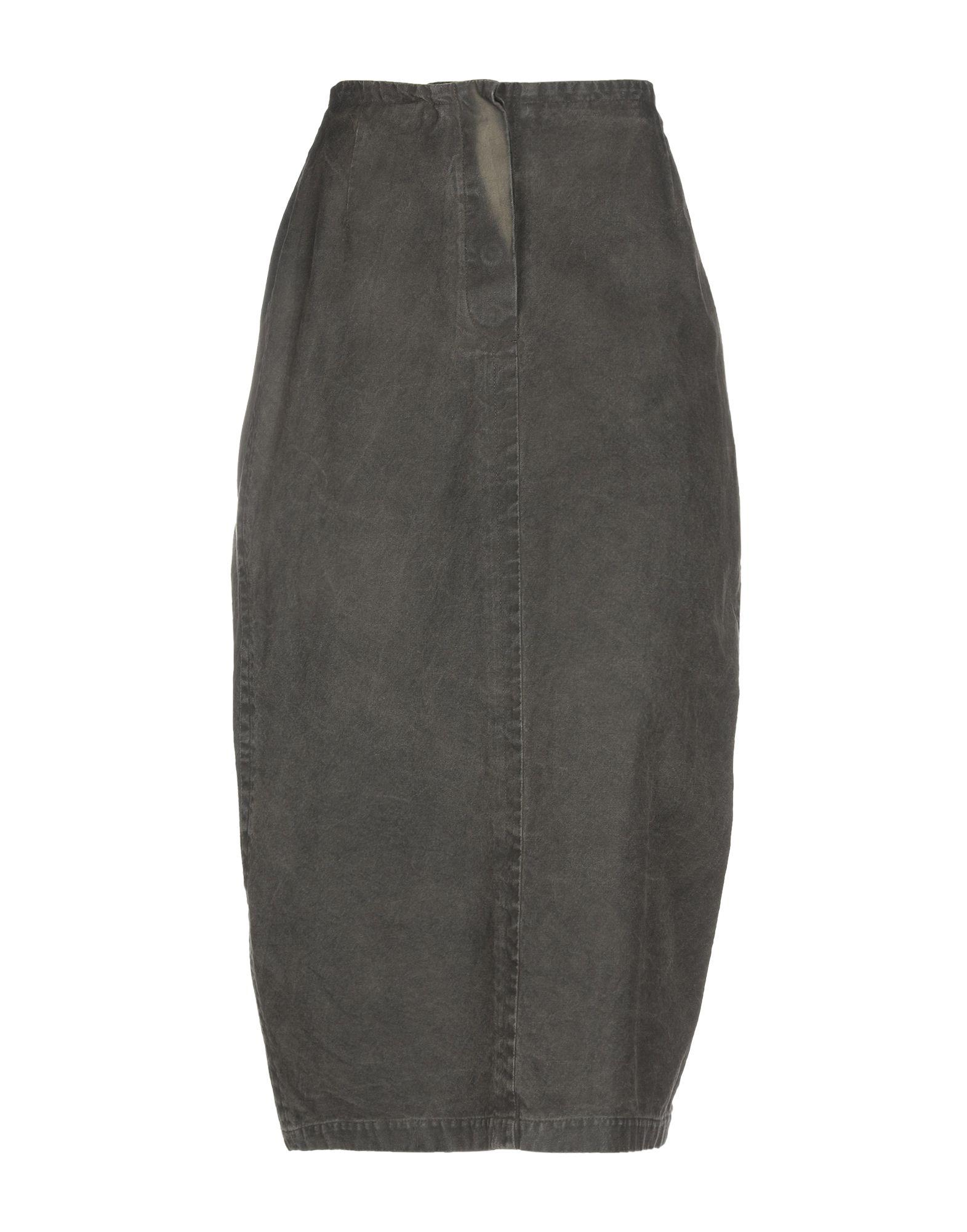 69f0cbddd Lyst - Rundholz Denim Skirt in Green