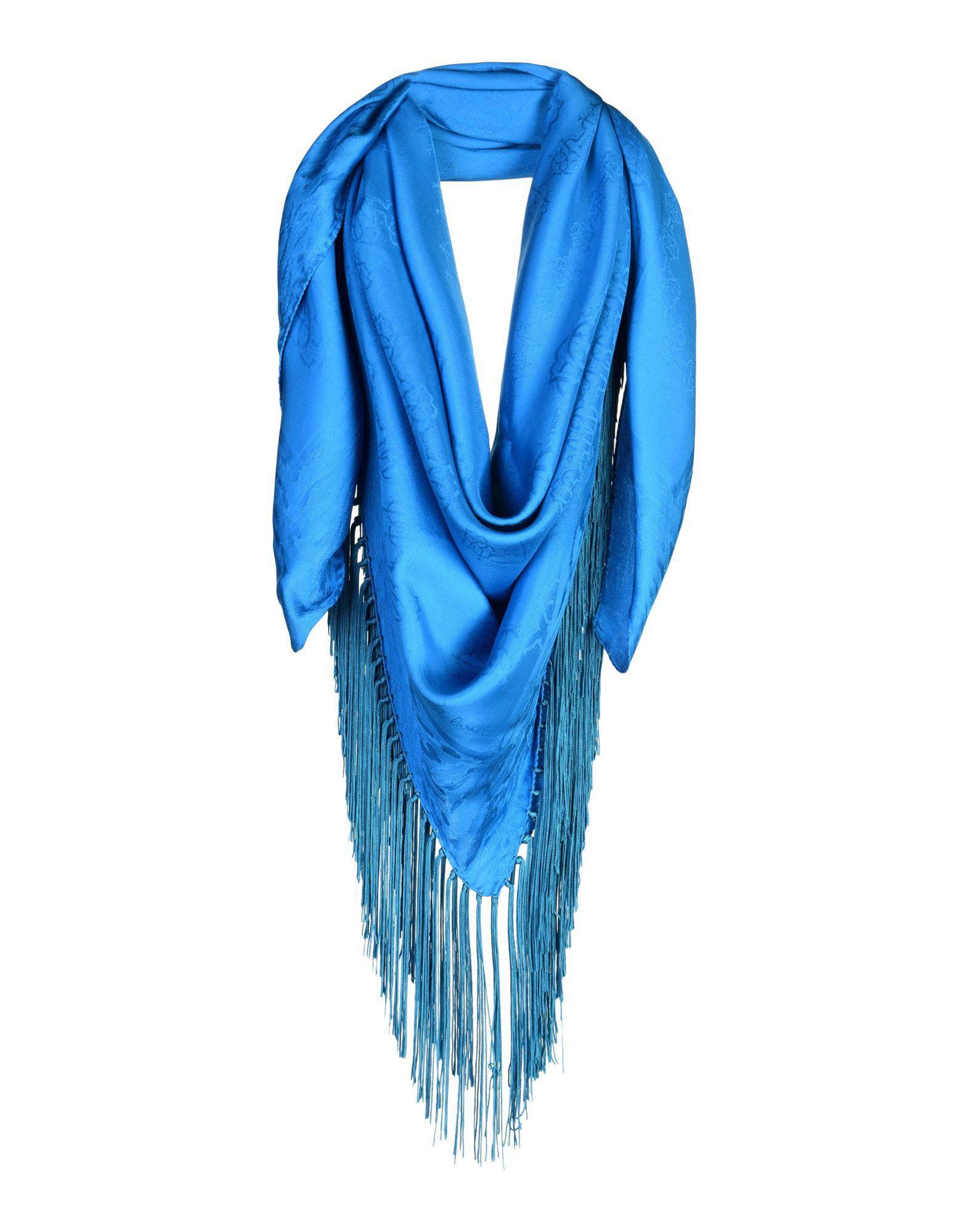 27e7318861e8 Lyst - Foulard Roberto Cavalli en coloris Bleu