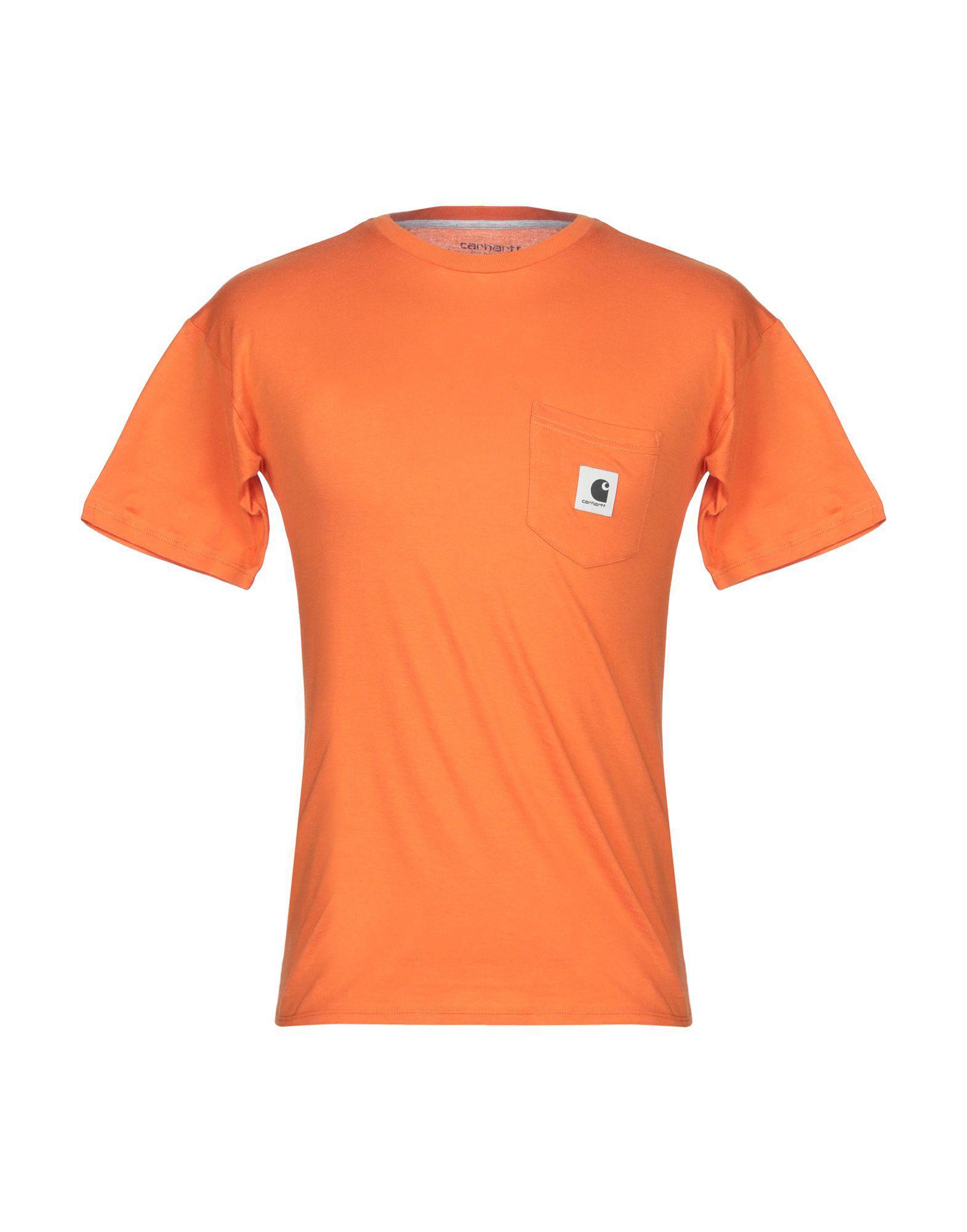 8e5fdffb9 Carhartt - Orange T-shirt for Men - Lyst. View fullscreen