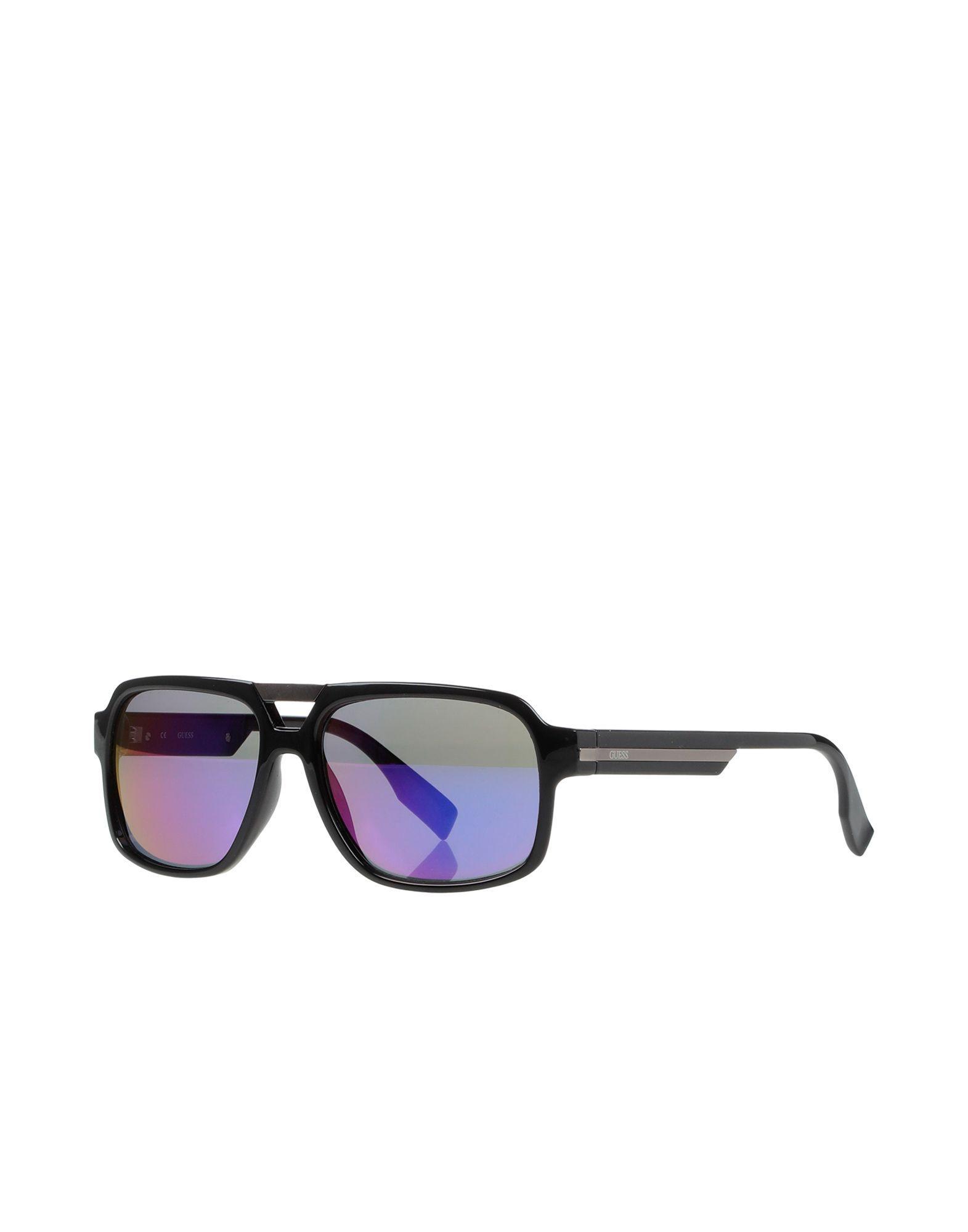8b1dc6bde4bc2 Guess - Black Sunglasses for Men - Lyst. View fullscreen