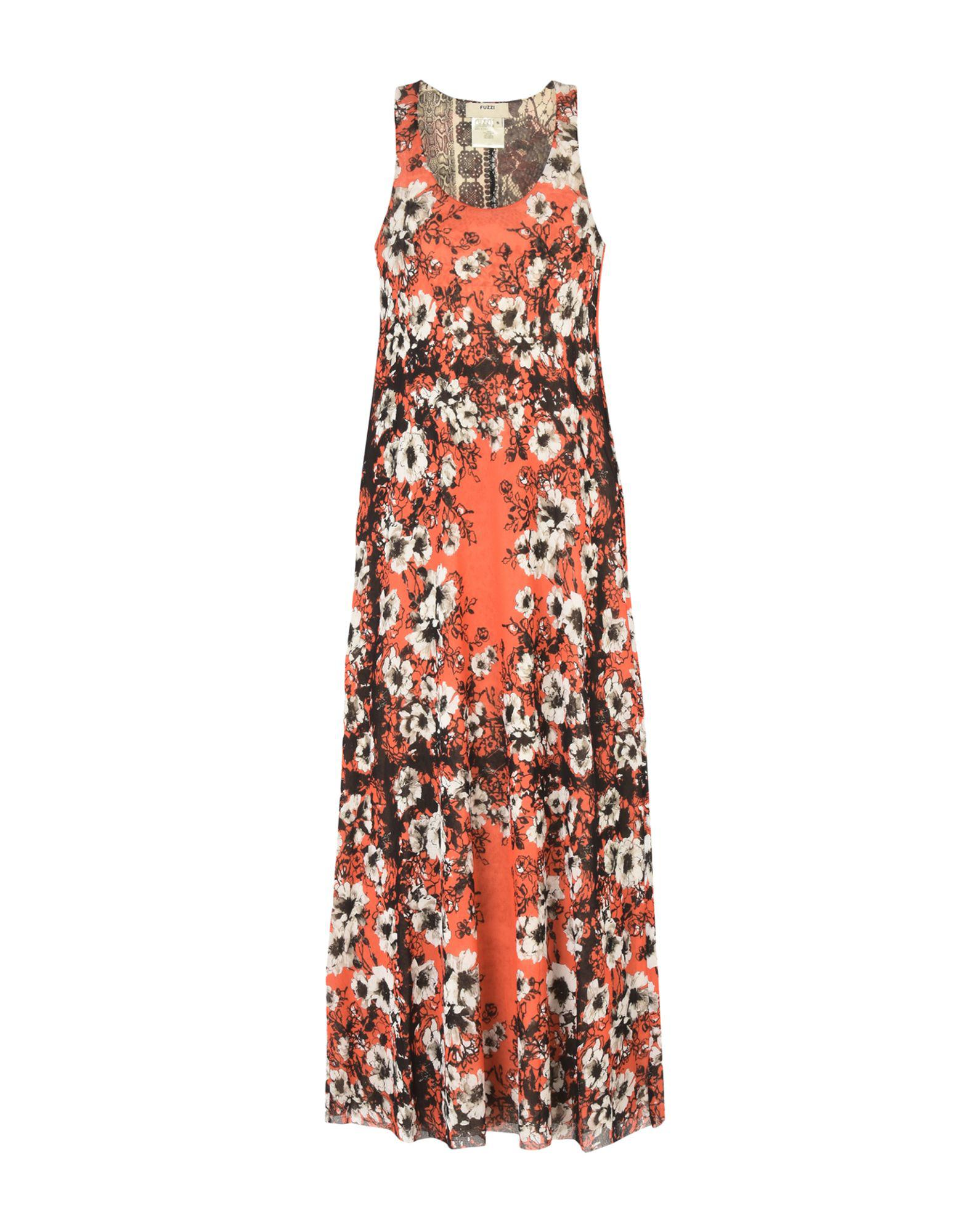 Buy Cheap With Mastercard DRESSES - 3/4 length dresses Fuzzi Low Cost Online Discounts Cheap Online Clearance Reliable Discount Very Cheap QlgGzFuUU