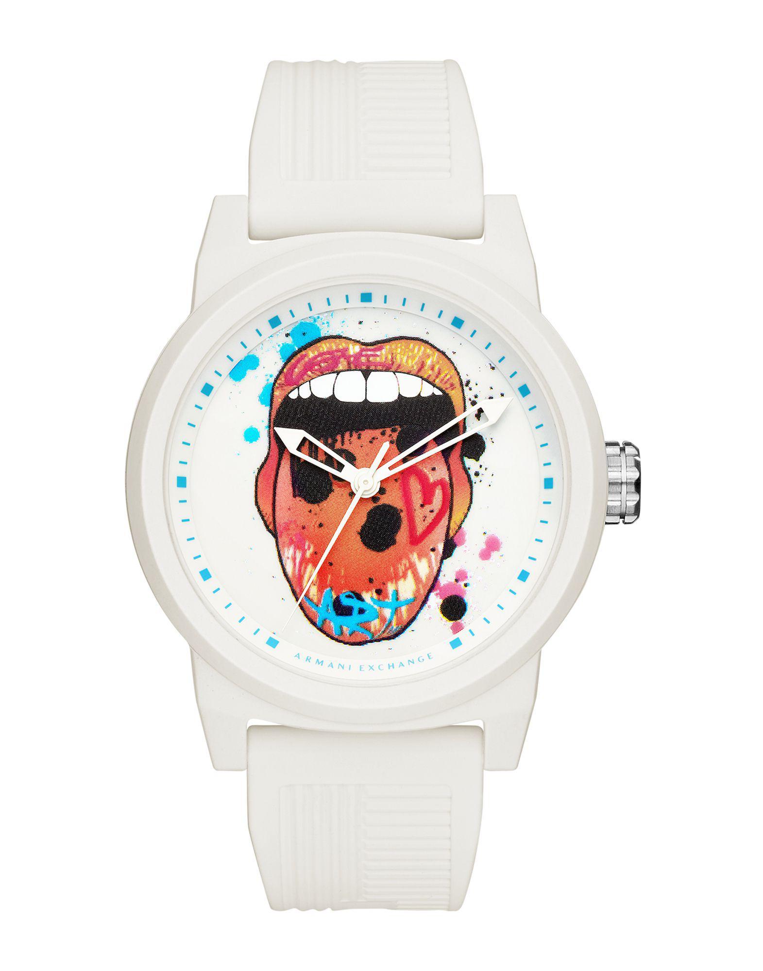 828ed0fb2e22 Lyst - Reloj de pulsera Armani Exchange de hombre de color Blanco