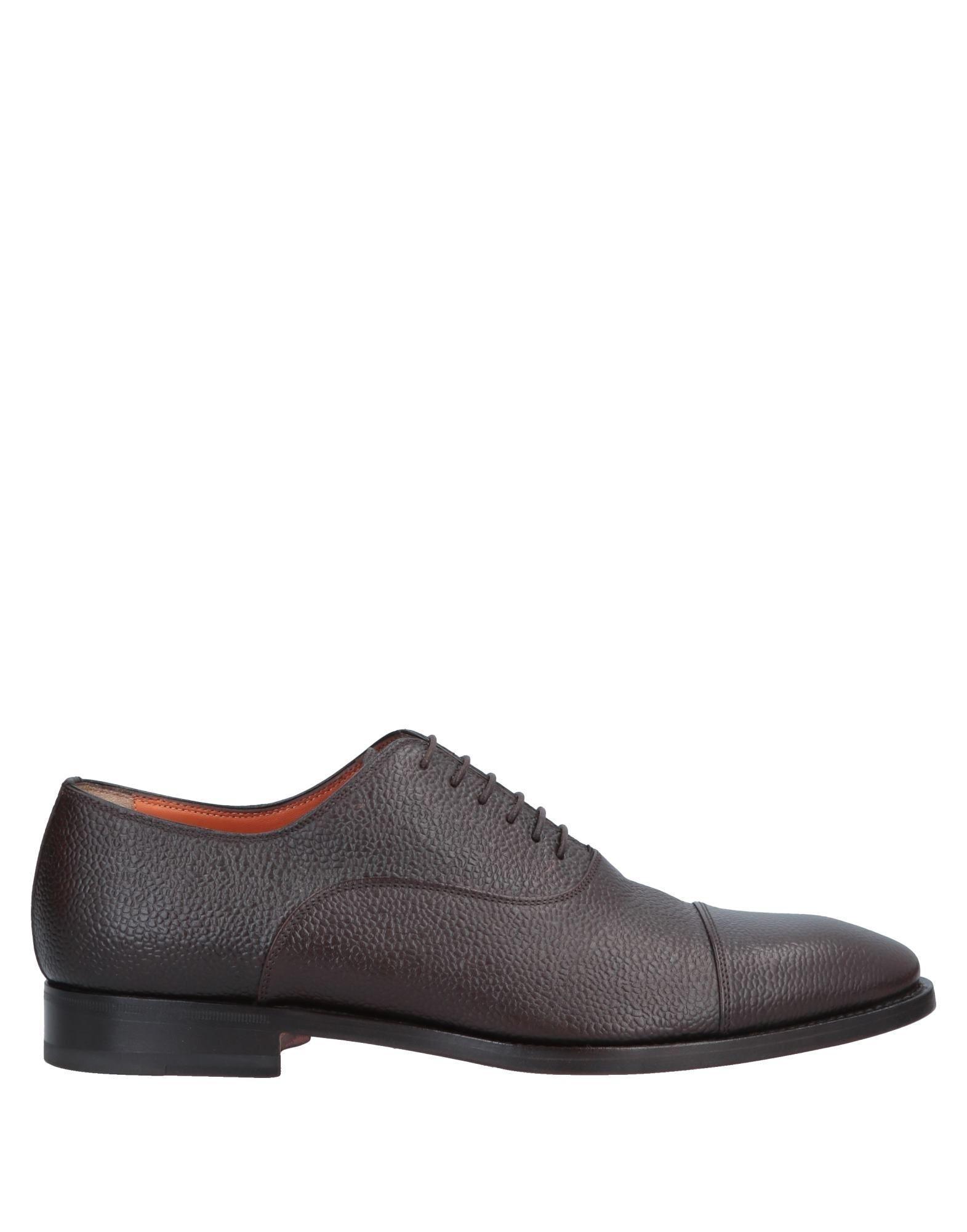 c53a408473437d Lyst - Chaussures à lacets Santoni pour homme en coloris Marron