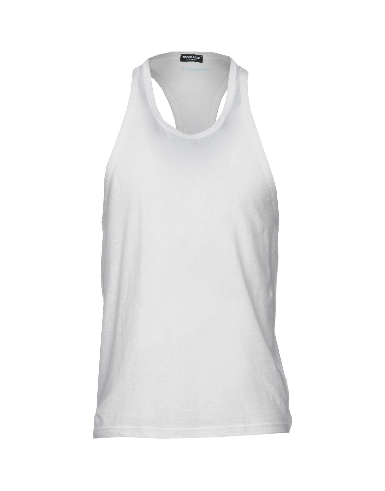 Lyst - Dsquared² Sleeveless Undershirt in White for Men a9a070b46