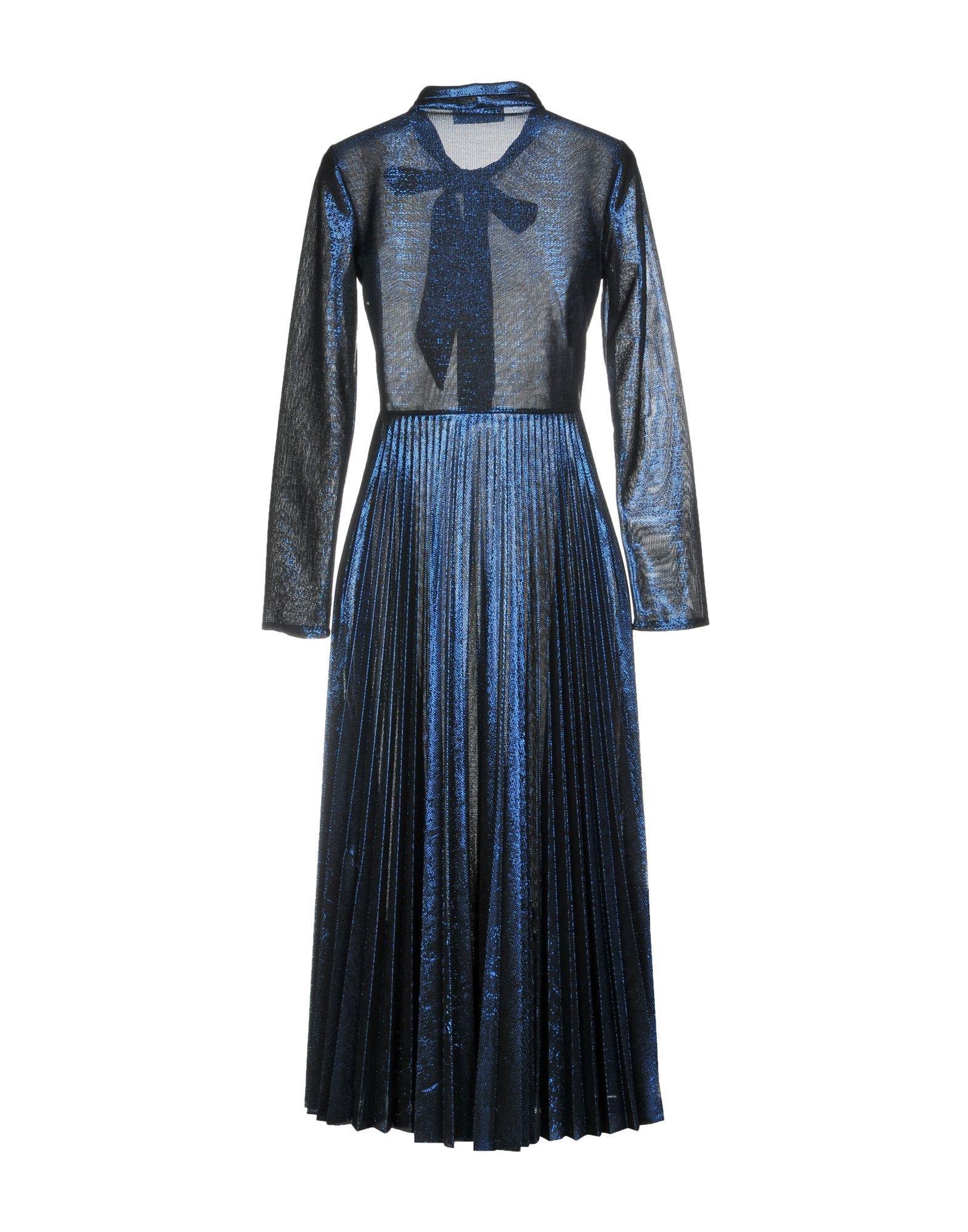 34 Aglini Lyst Blue Length Dress In Tzd45pwfqx