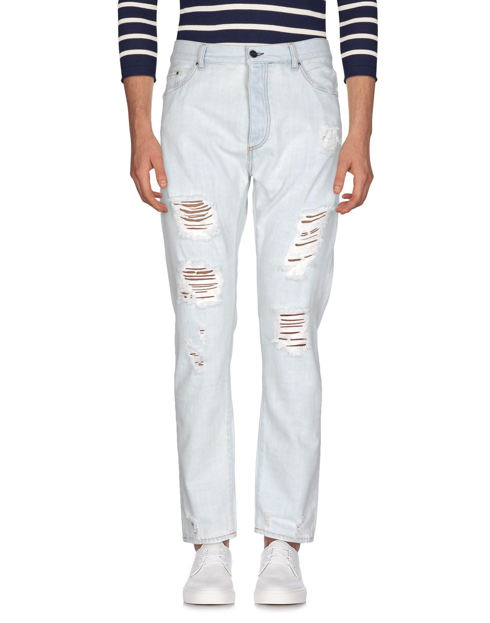 f0f7580633c Palm Angels Denim Trousers in Blue for Men - Lyst