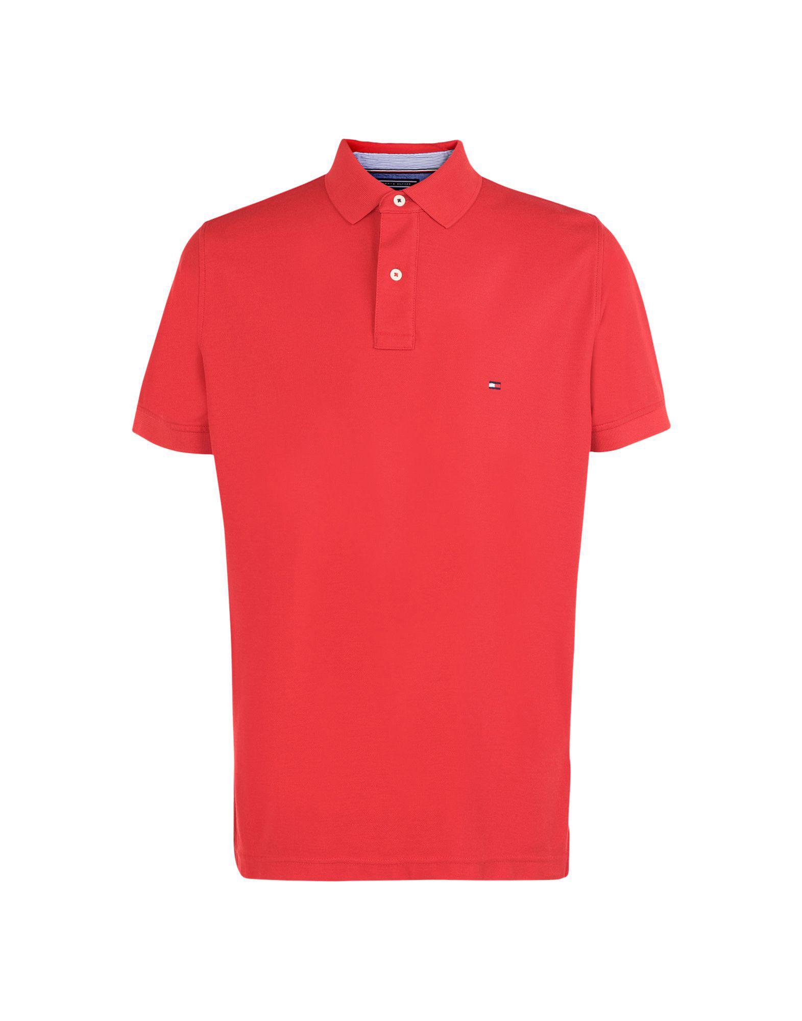 40b39664fbc0 Lyst - Polo Tommy Hilfiger pour homme en coloris Rouge
