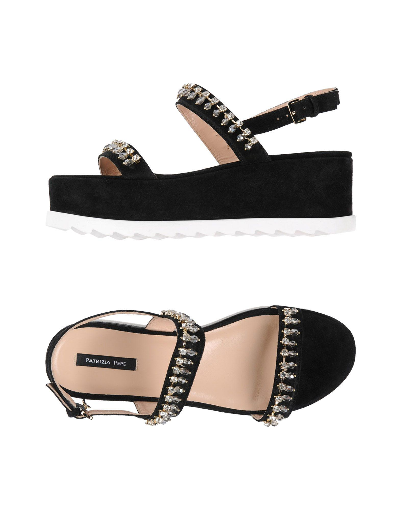 Lyst - Patrizia Pepe Sandals in Black a435f7b8160