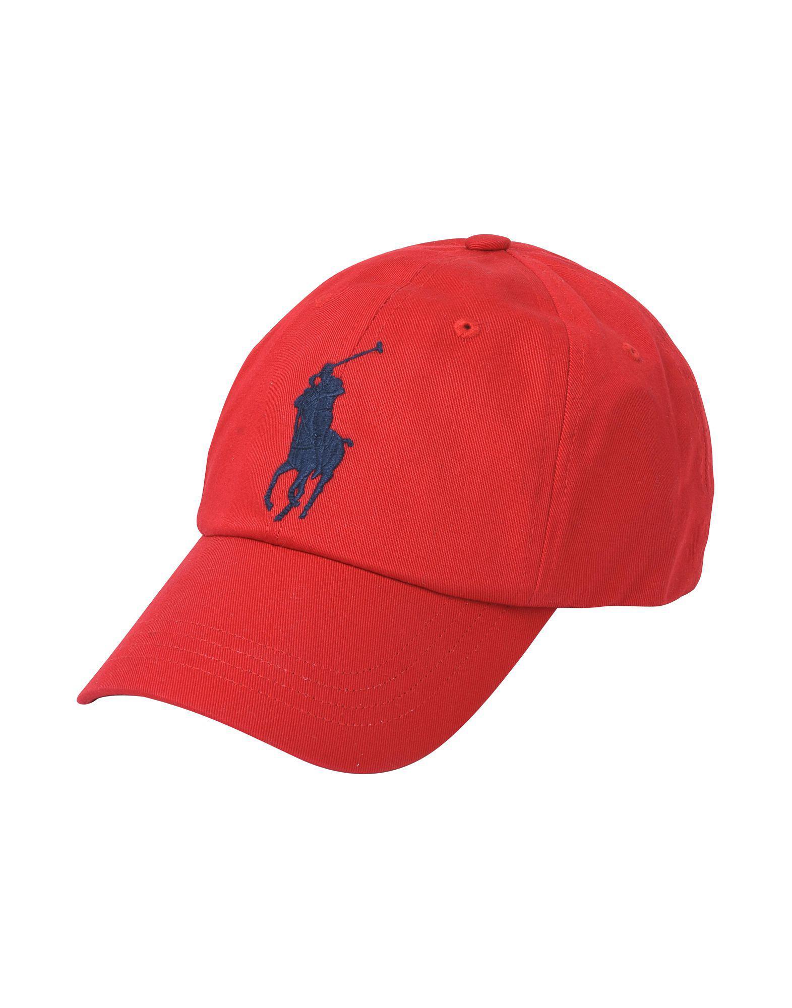 8af3f2ca57a6 Lyst - Chapeau Polo Ralph Lauren pour homme en coloris Rouge