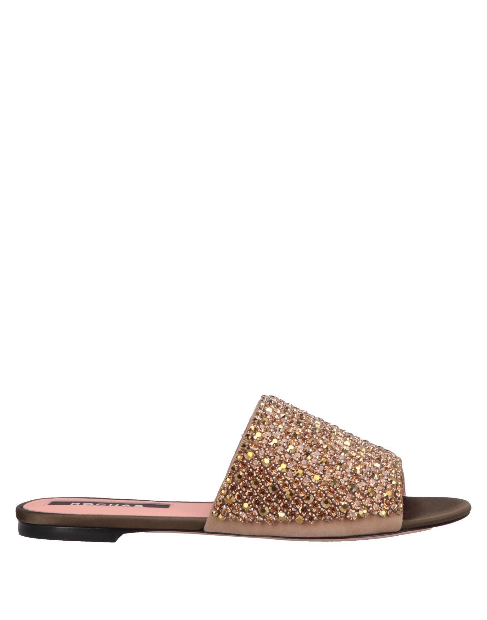 7da004db383a Lyst - Rochas Sandals in Metallic