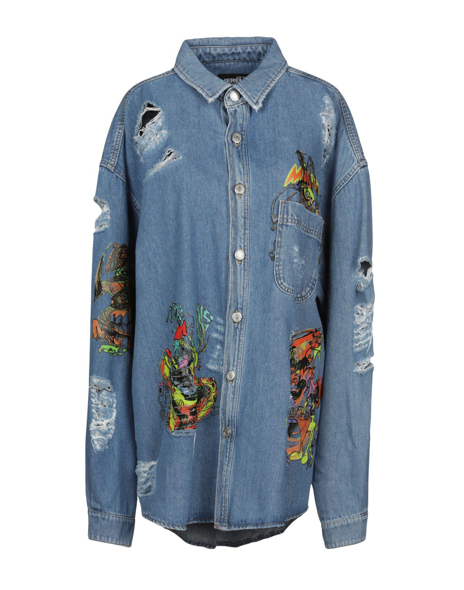 86bb5533f2b3 Jeremy Scott Denim Outerwear in Blue - Lyst