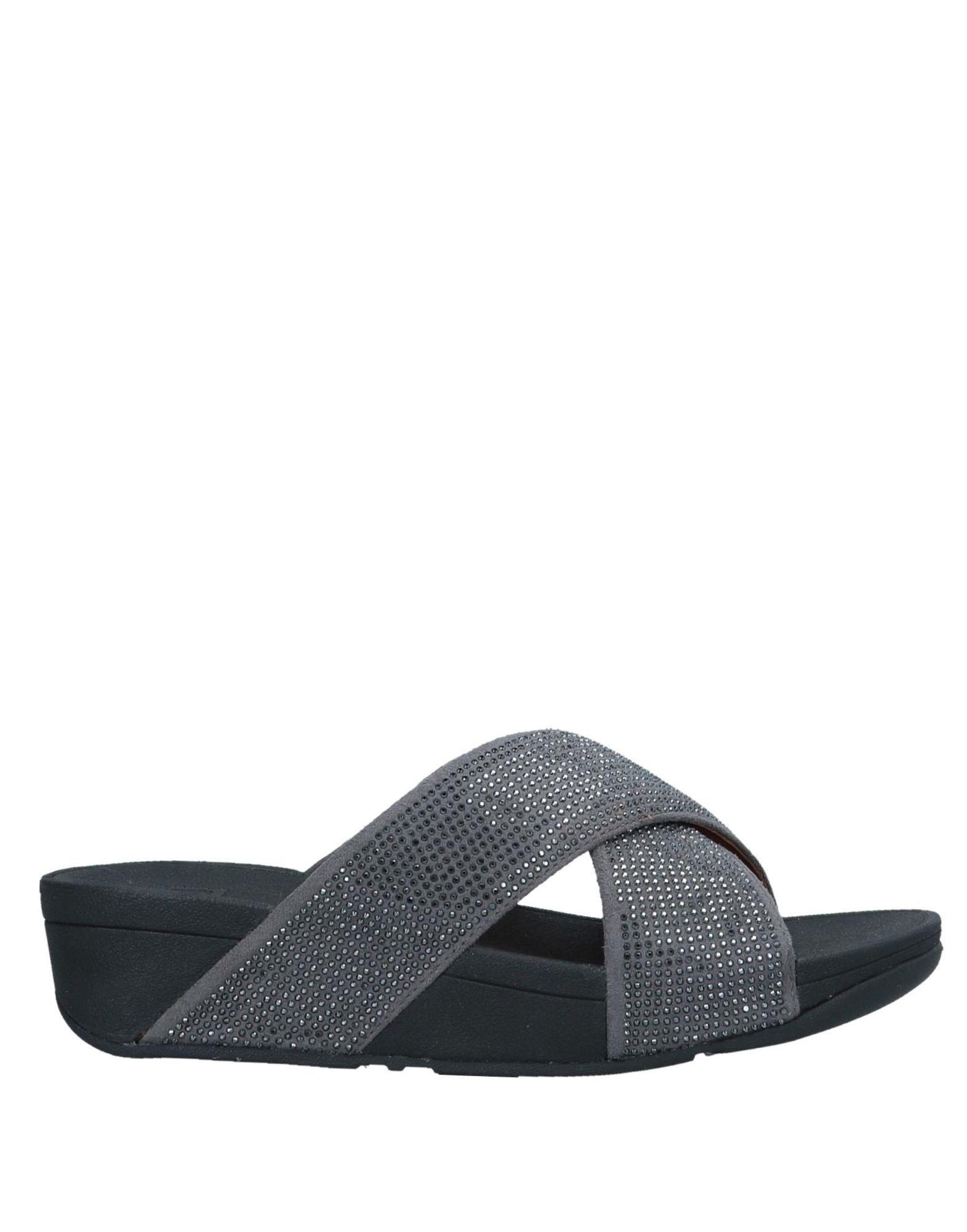 9114df39c Lyst - Fitflop Ritzy Slide Open Toe Sandals in Gray