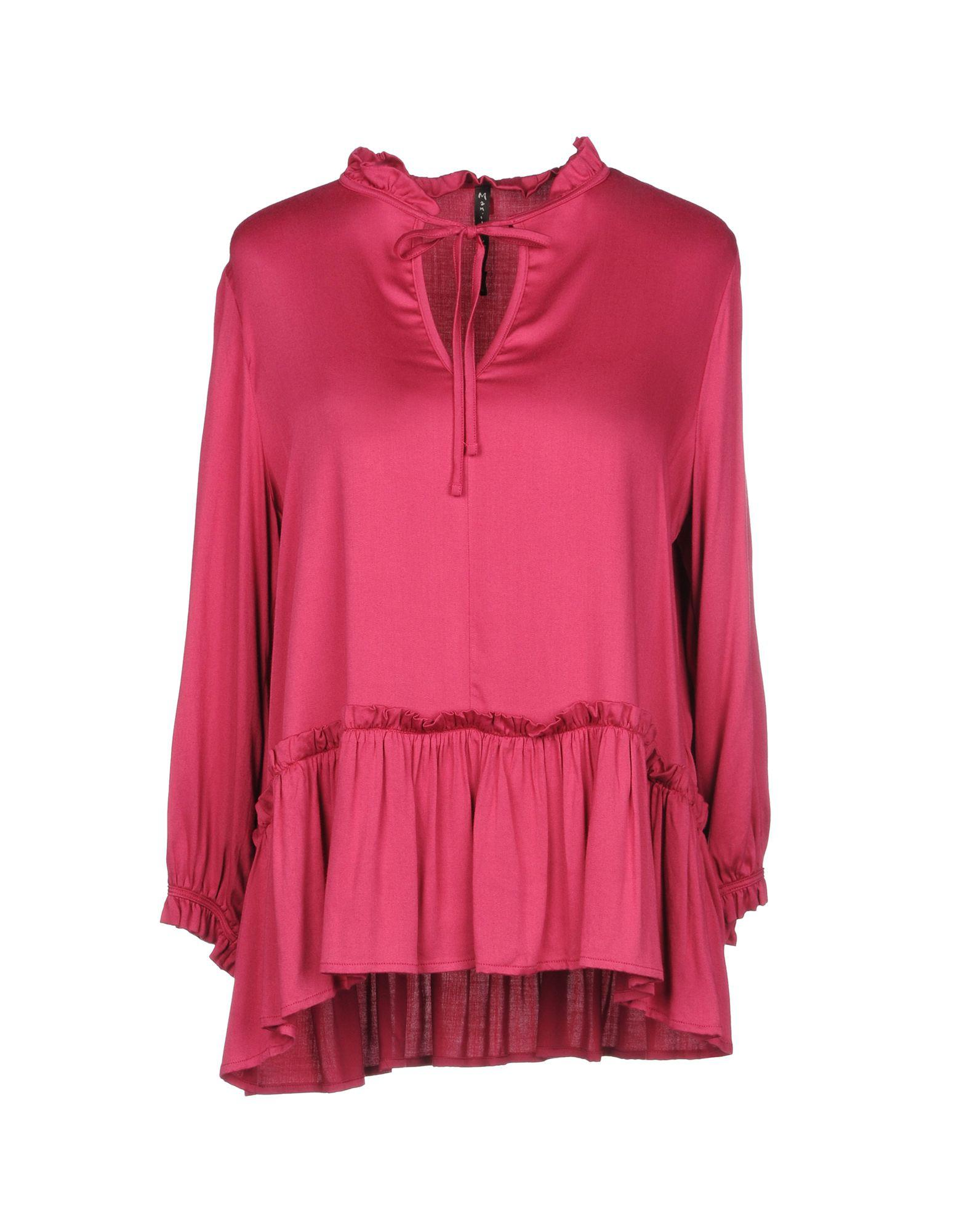 0407d11c2d548 Lyst - Manila Grace Blouse in Pink