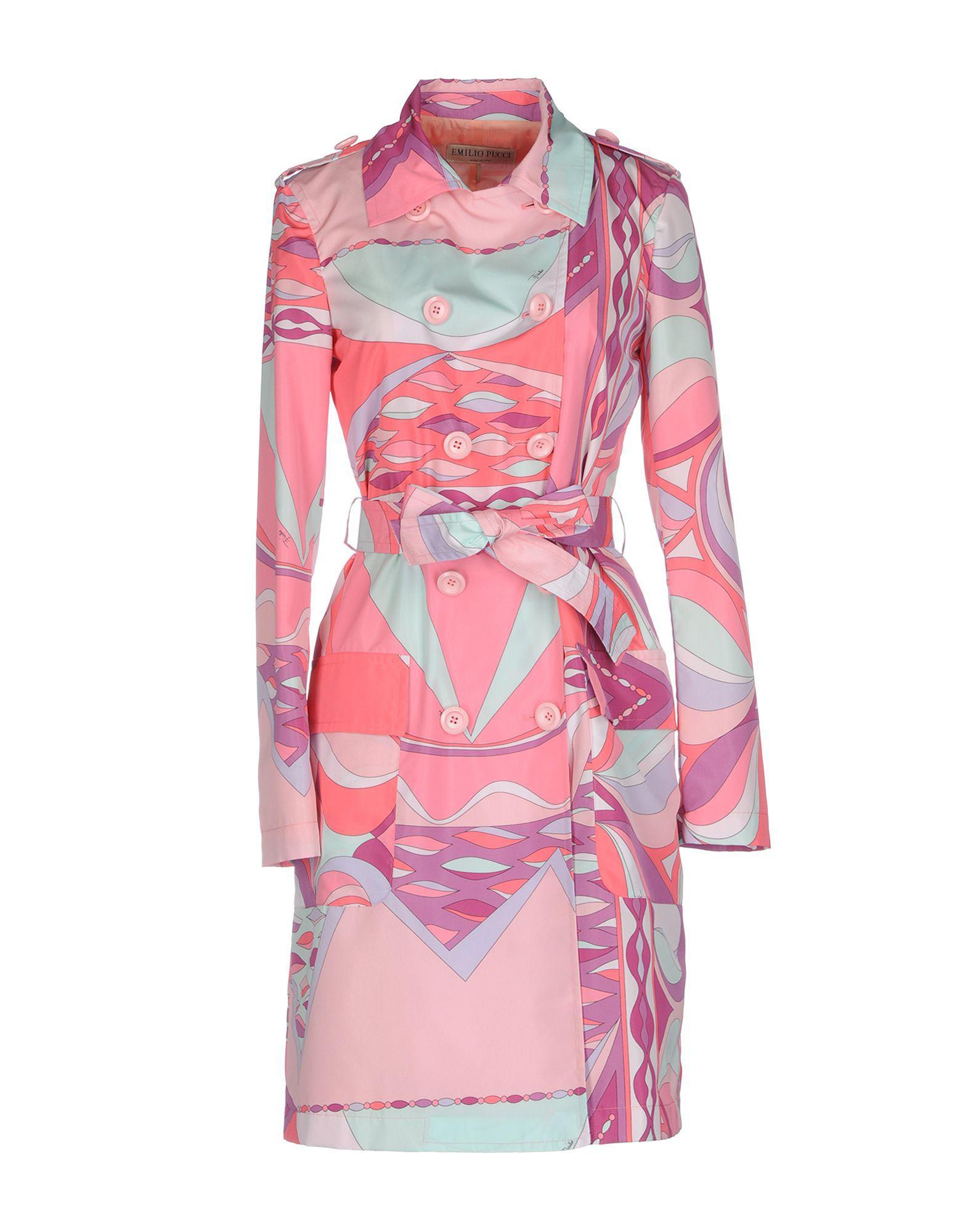 befd9656cdaa Emilio Pucci Overcoat in Pink - Lyst