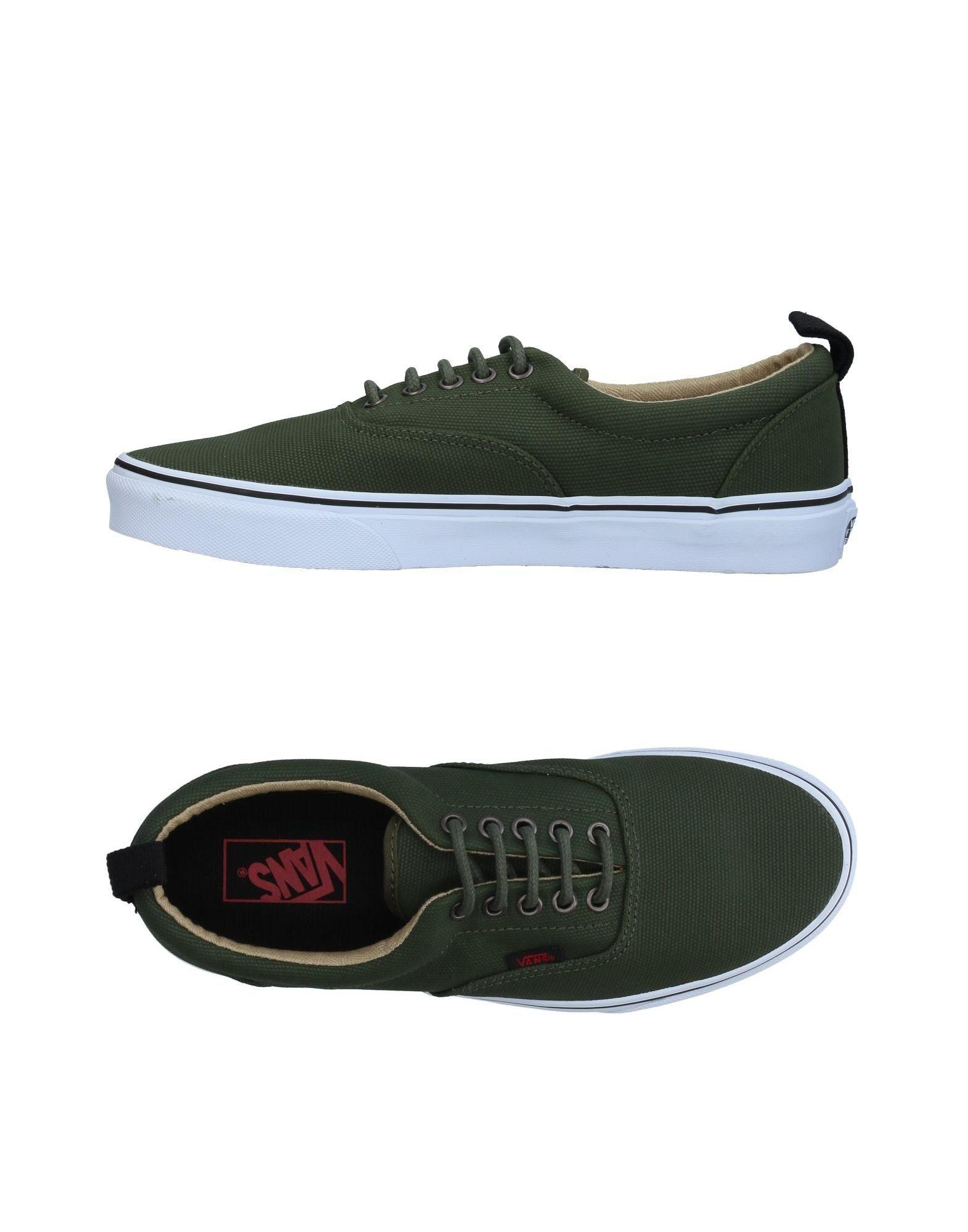 5886df902414 Vans Era Pt (military Twill) Men Round Toe Canvas Green Skate Shoe ...