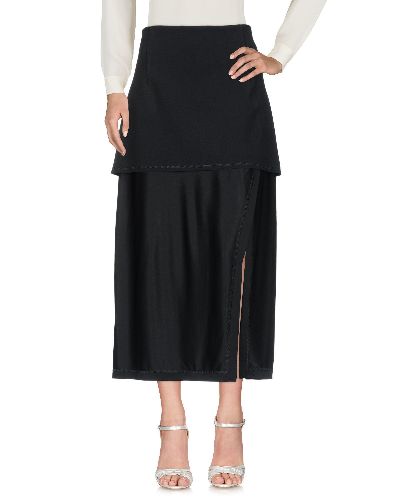 3d591da94 Lyst - DKNY Long Skirt in Black