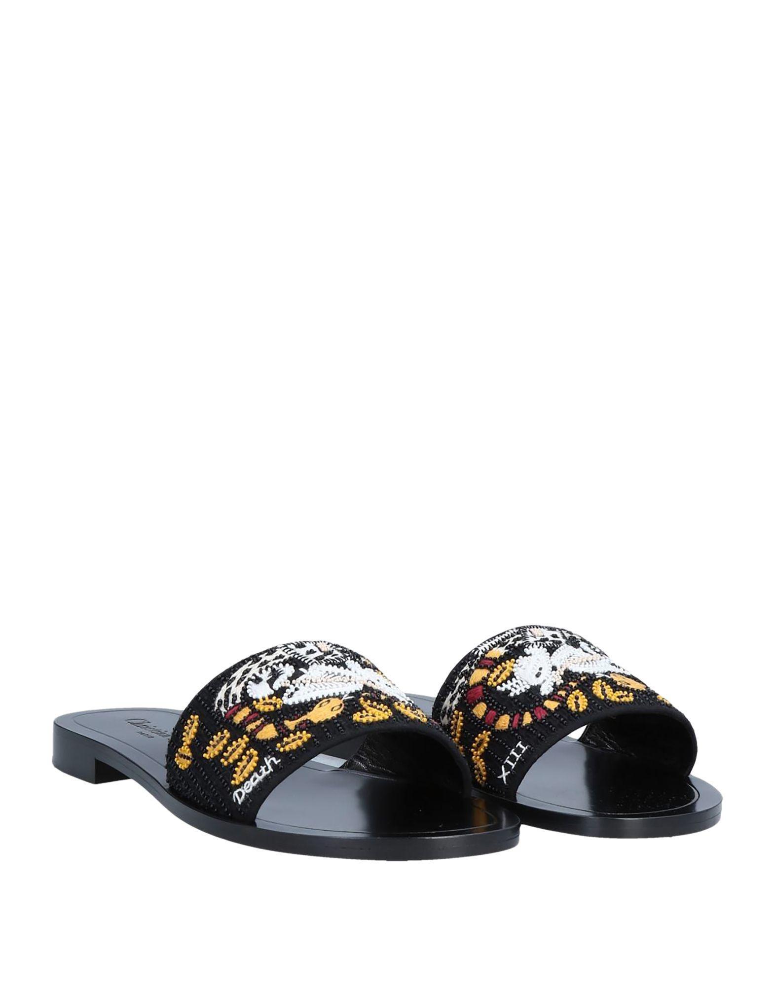 3b9a1539e3f Dior - Black Sandals - Lyst. View fullscreen