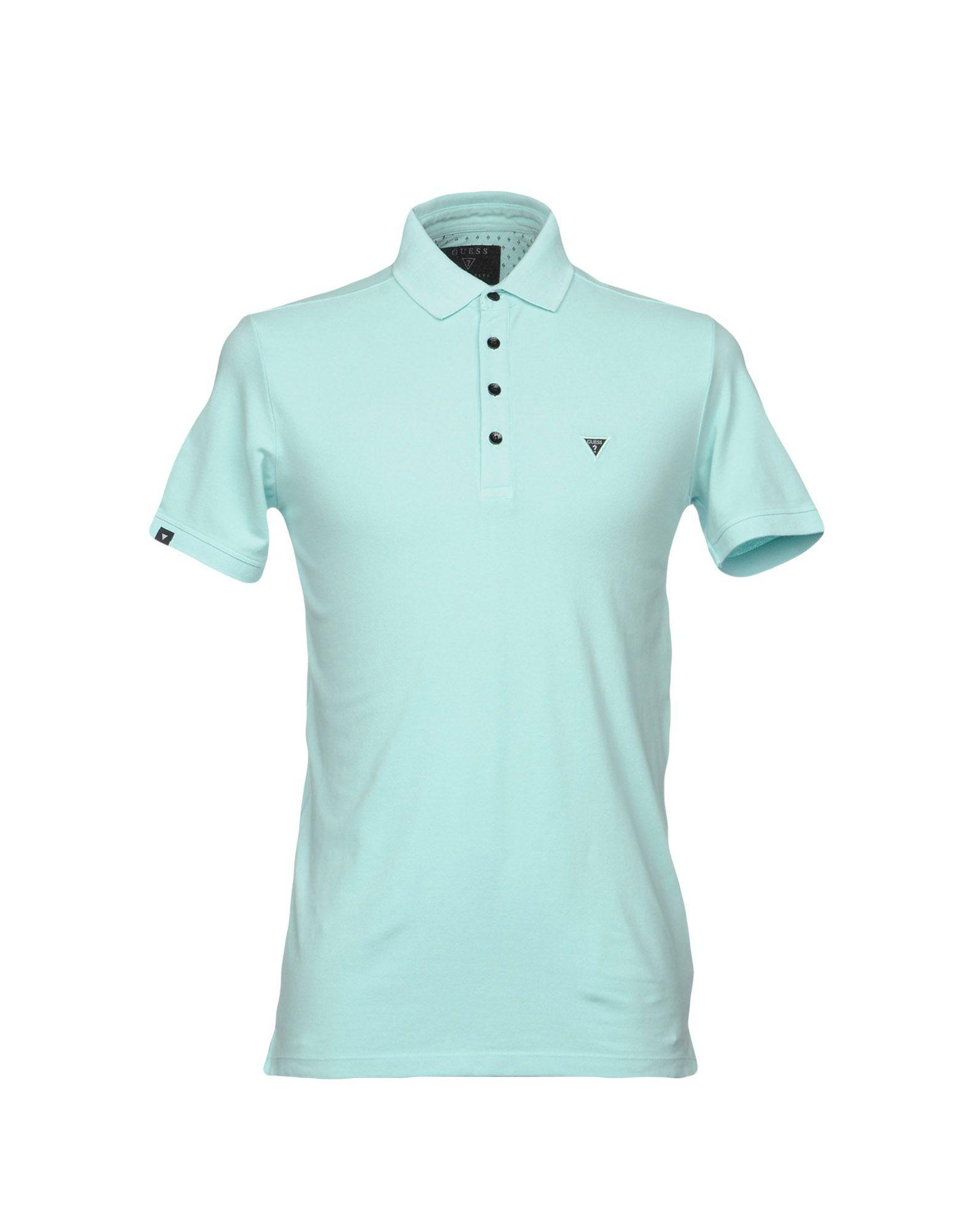72545def Lyst - Guess Polo Shirt in Blue for Men