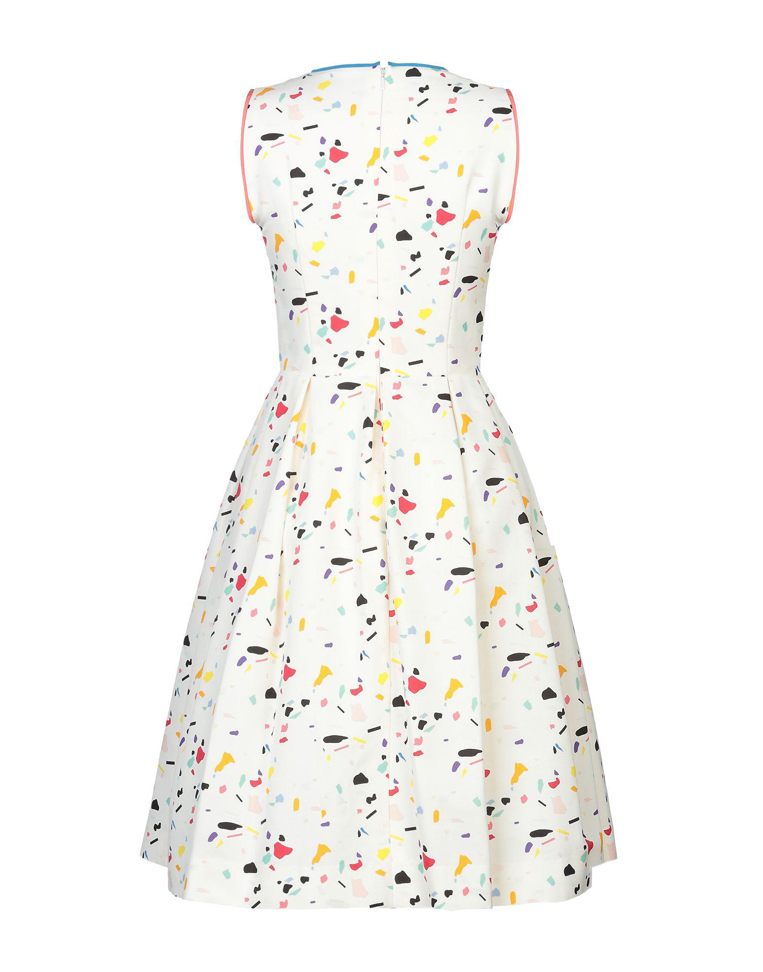 ddc1945bd14 Carolina Herrera Knee-length Dress in White - Save 29% - Lyst