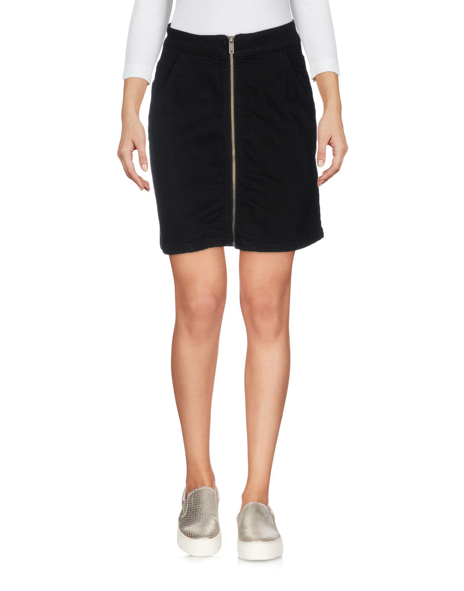 Superdry Denim Skirt in Black - Lyst b75d32f2f09c