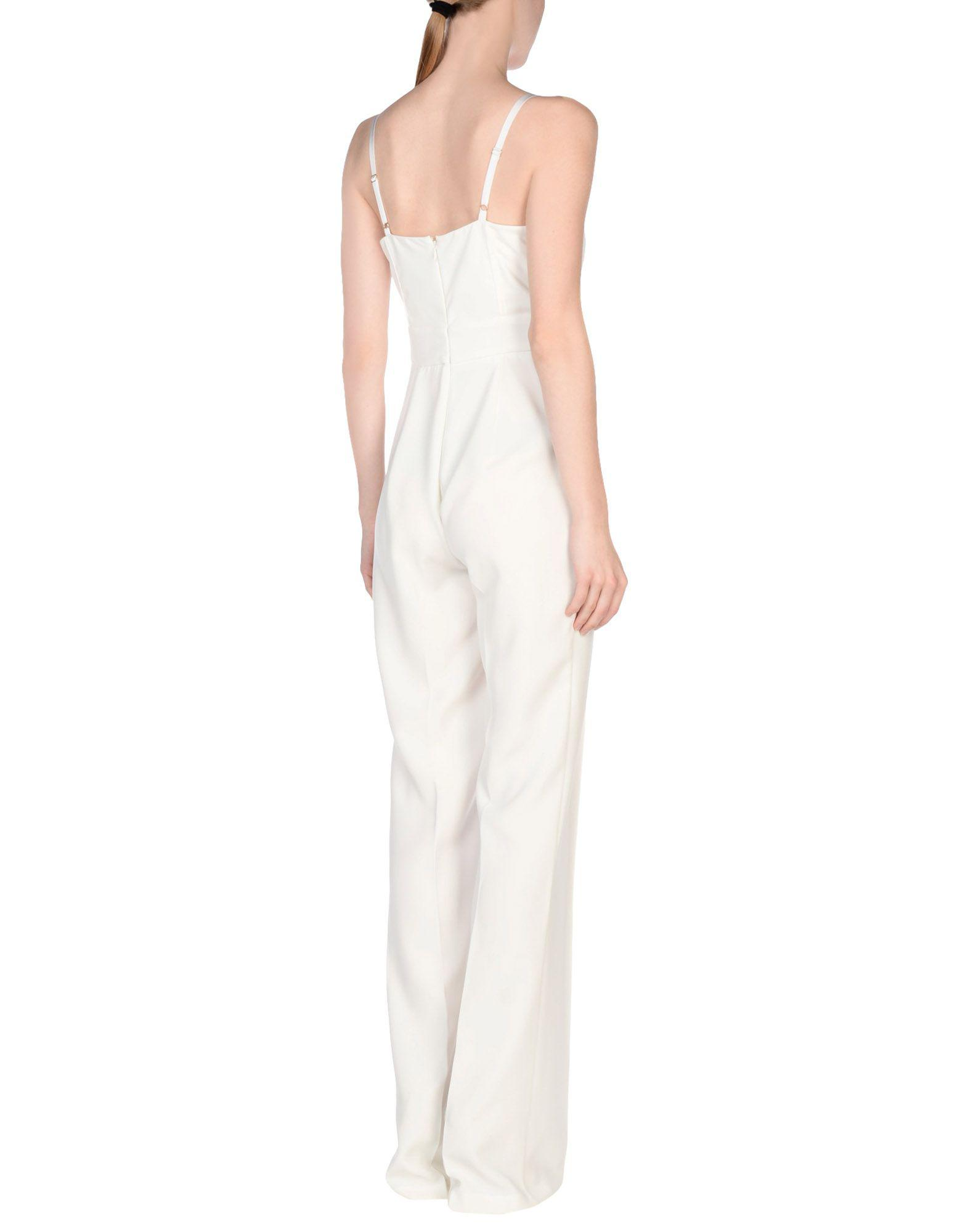 77ec39419fa Lyst - Elisabetta Franchi Jumpsuit in White