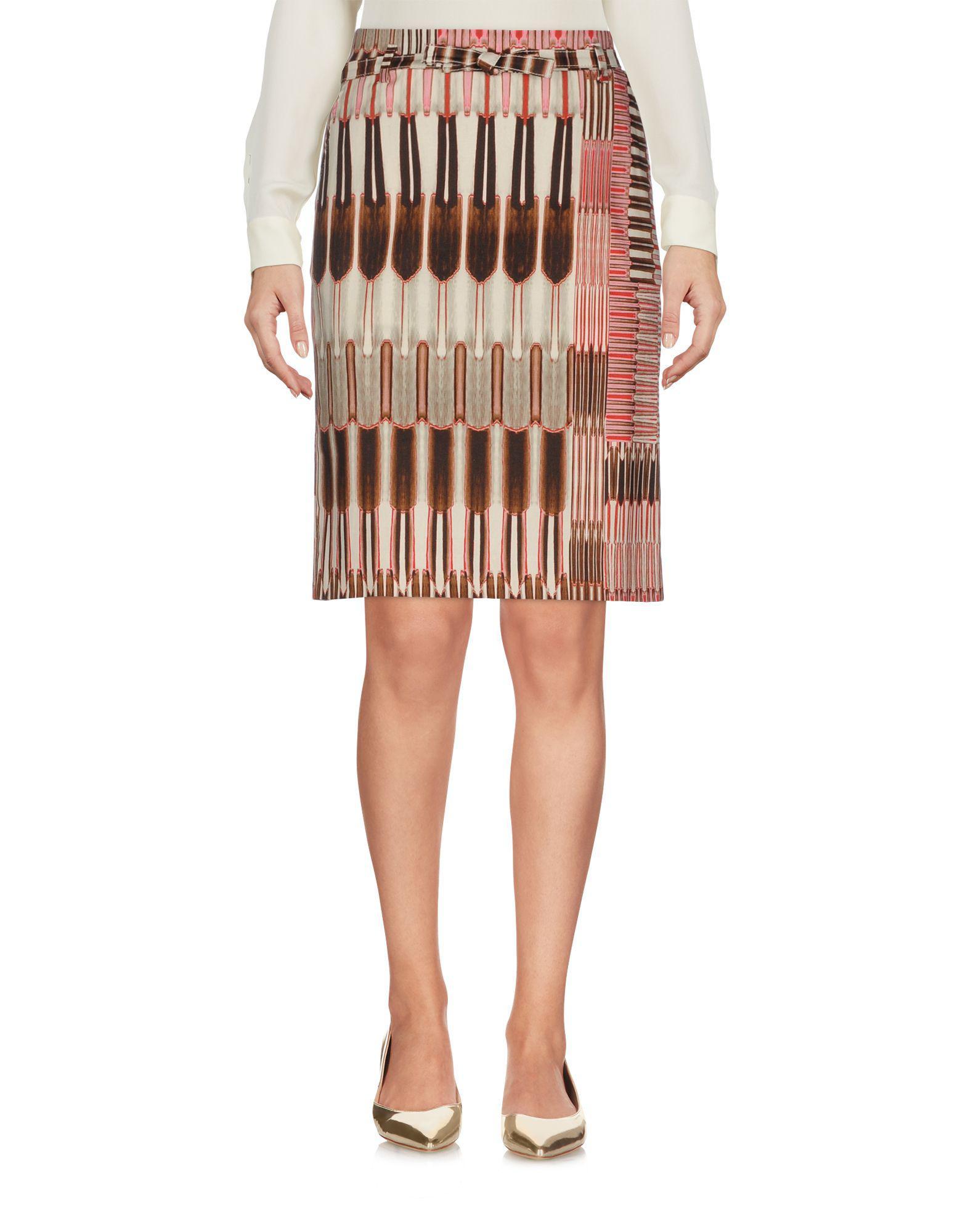 1be5739f4 Pt0w - Natural Knee Length Skirt - Lyst. View fullscreen