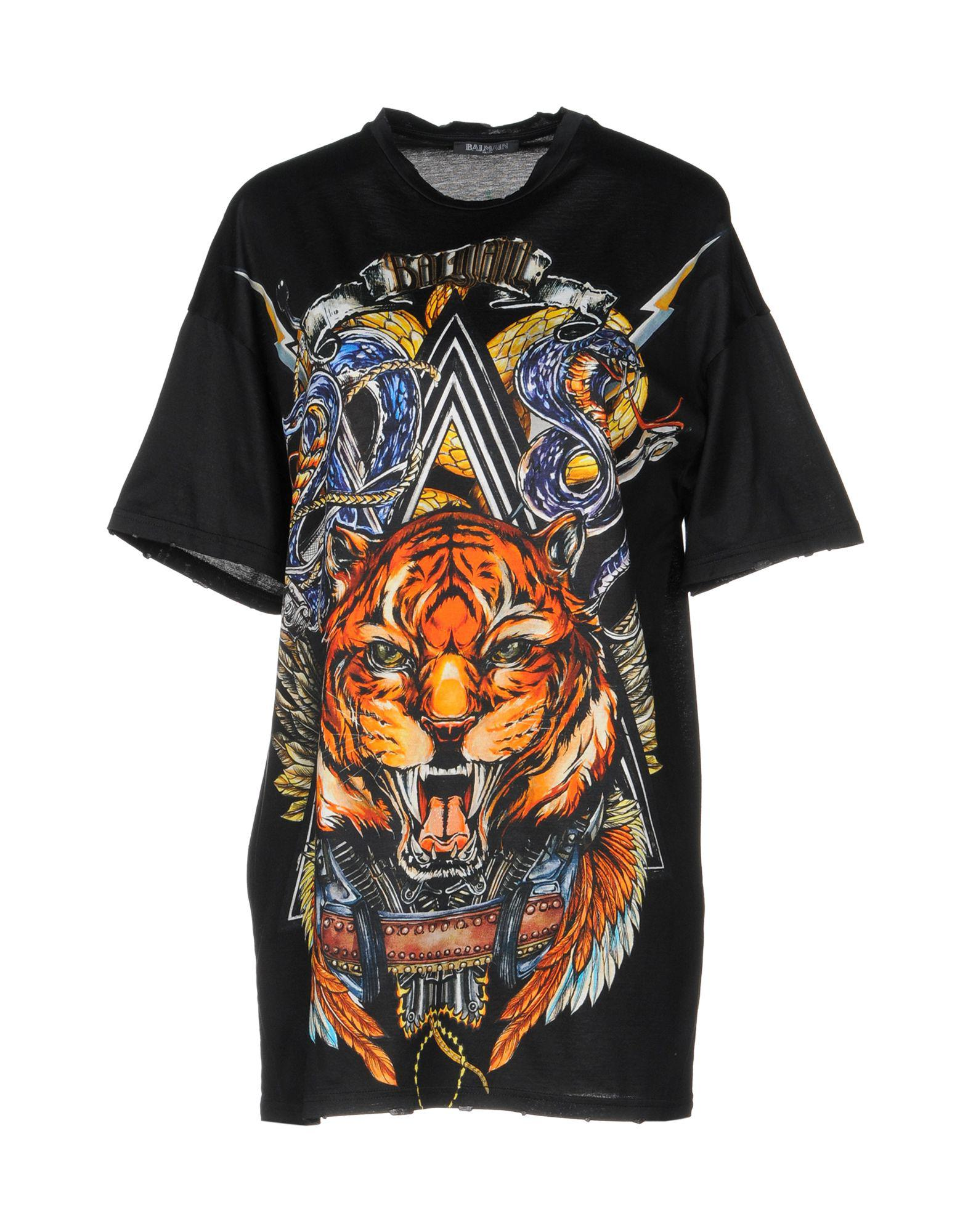 11df7182 Lyst - Balmain T-shirt in Black - Save 2%
