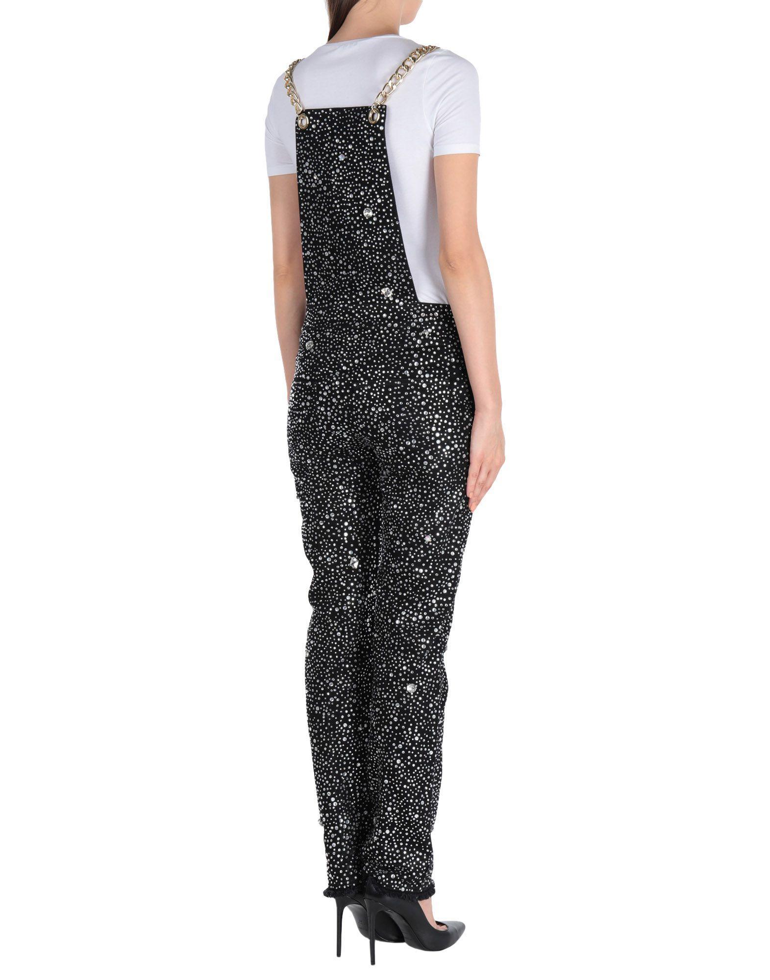3d718f2df00 Lyst - Balmain Crystal-embellished Jumpsuit in Black
