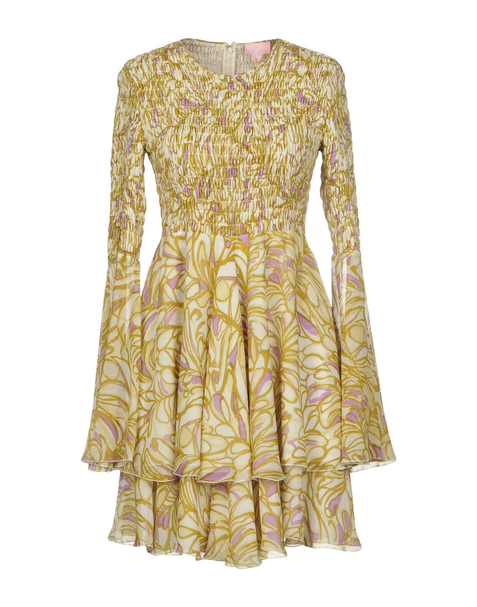d0190cdb22f2 Lyst - Giamba Short Dress in Yellow