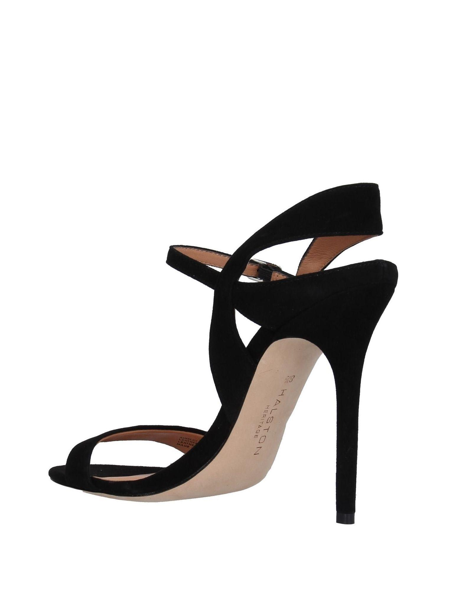 68b3b5b41da Lyst - Halston Heritage Sandals in Black
