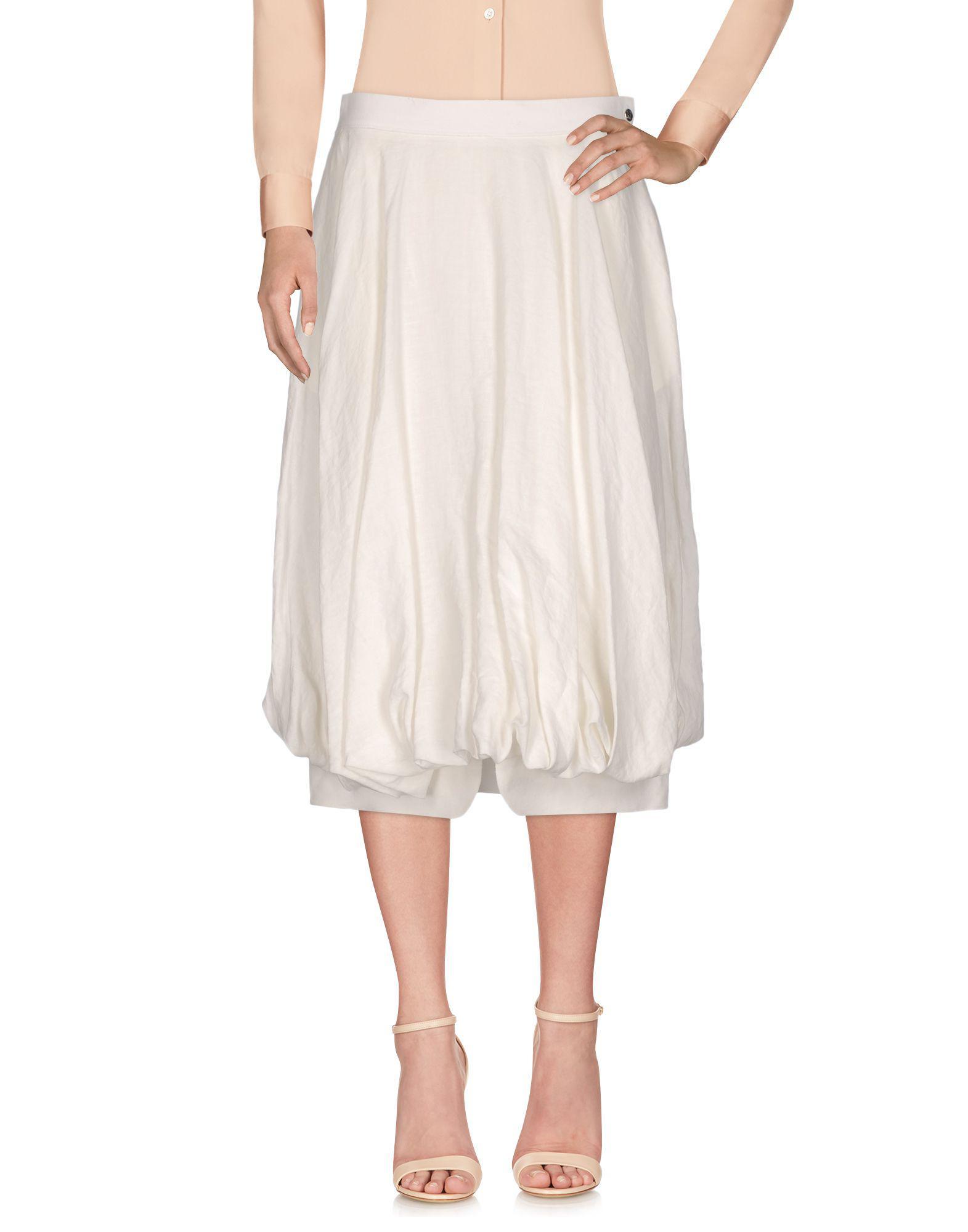 4a28c906d8c3 Loewe 3/4 Length Skirt in White - Lyst