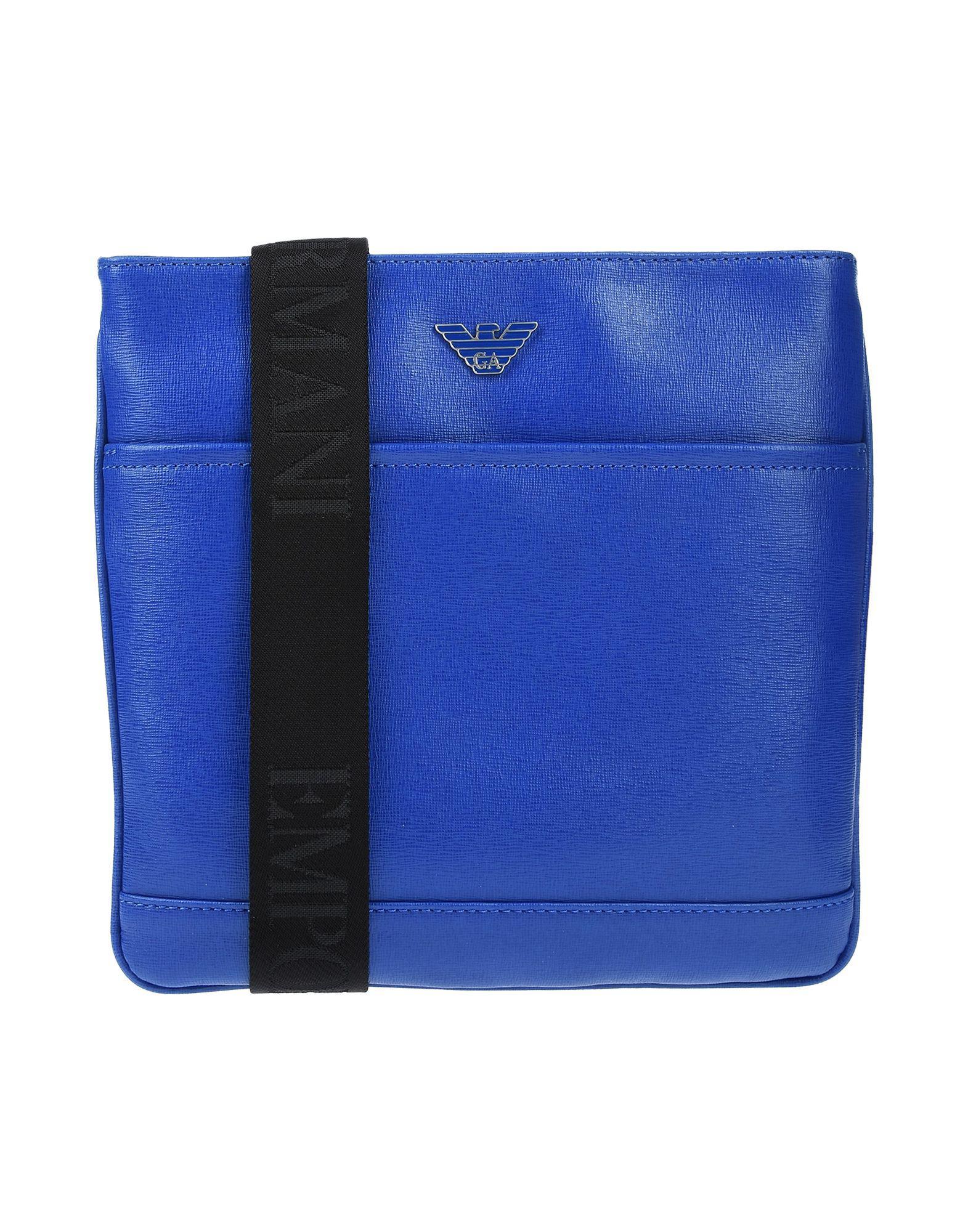 Emporio Armani Cross-body Bag in Blue for Men - Lyst 2c114fa359b63