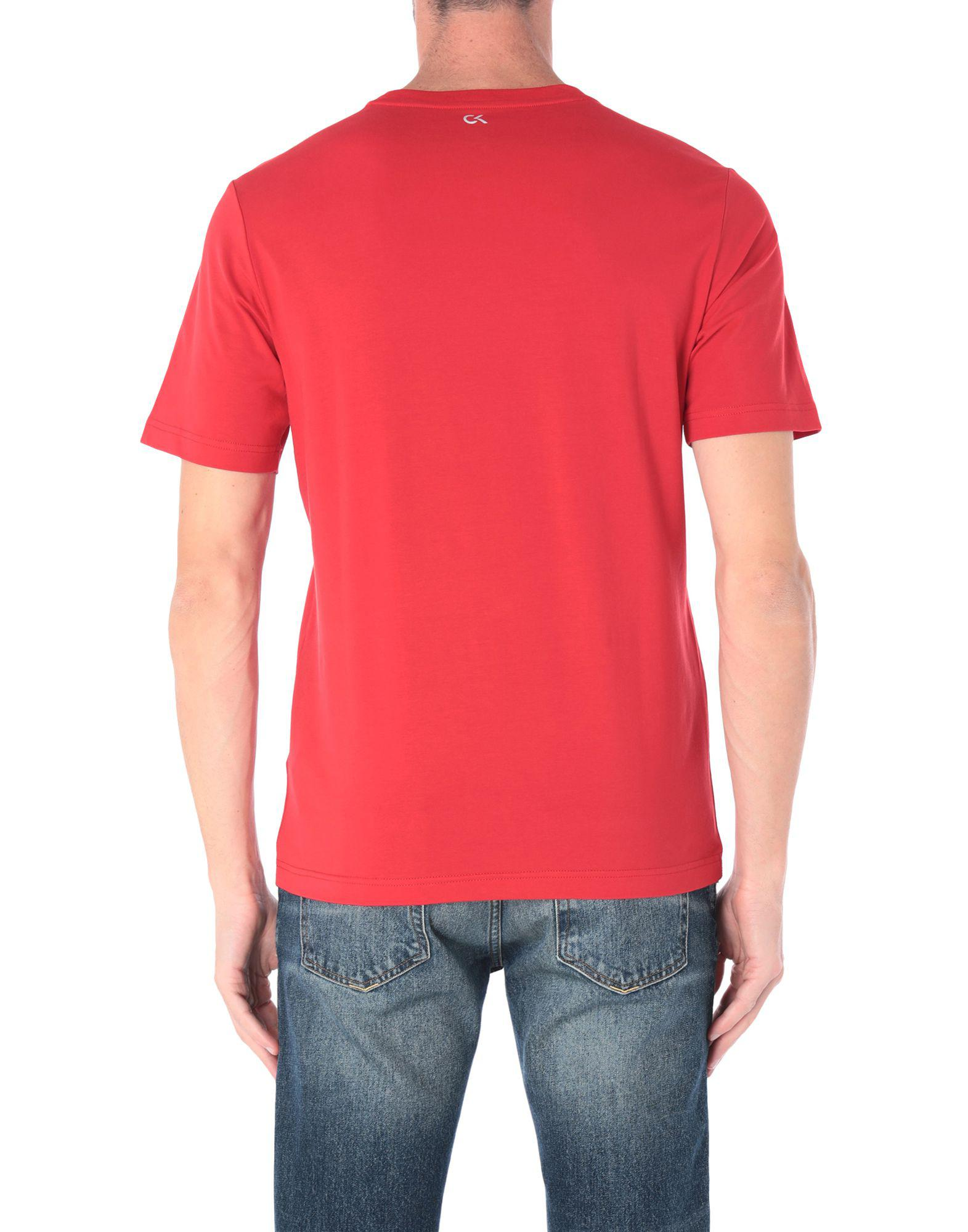 f593b082c80 Lyst - Calvin Klein T-shirt in Red for Men