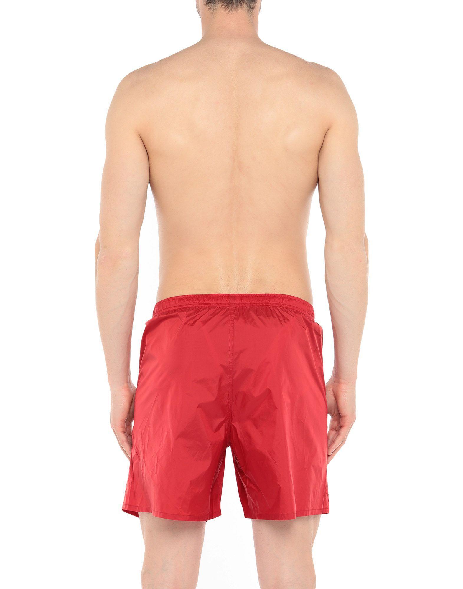 55275b9e55 Lyst - Zegna Sport Swim Trunks in Red for Men