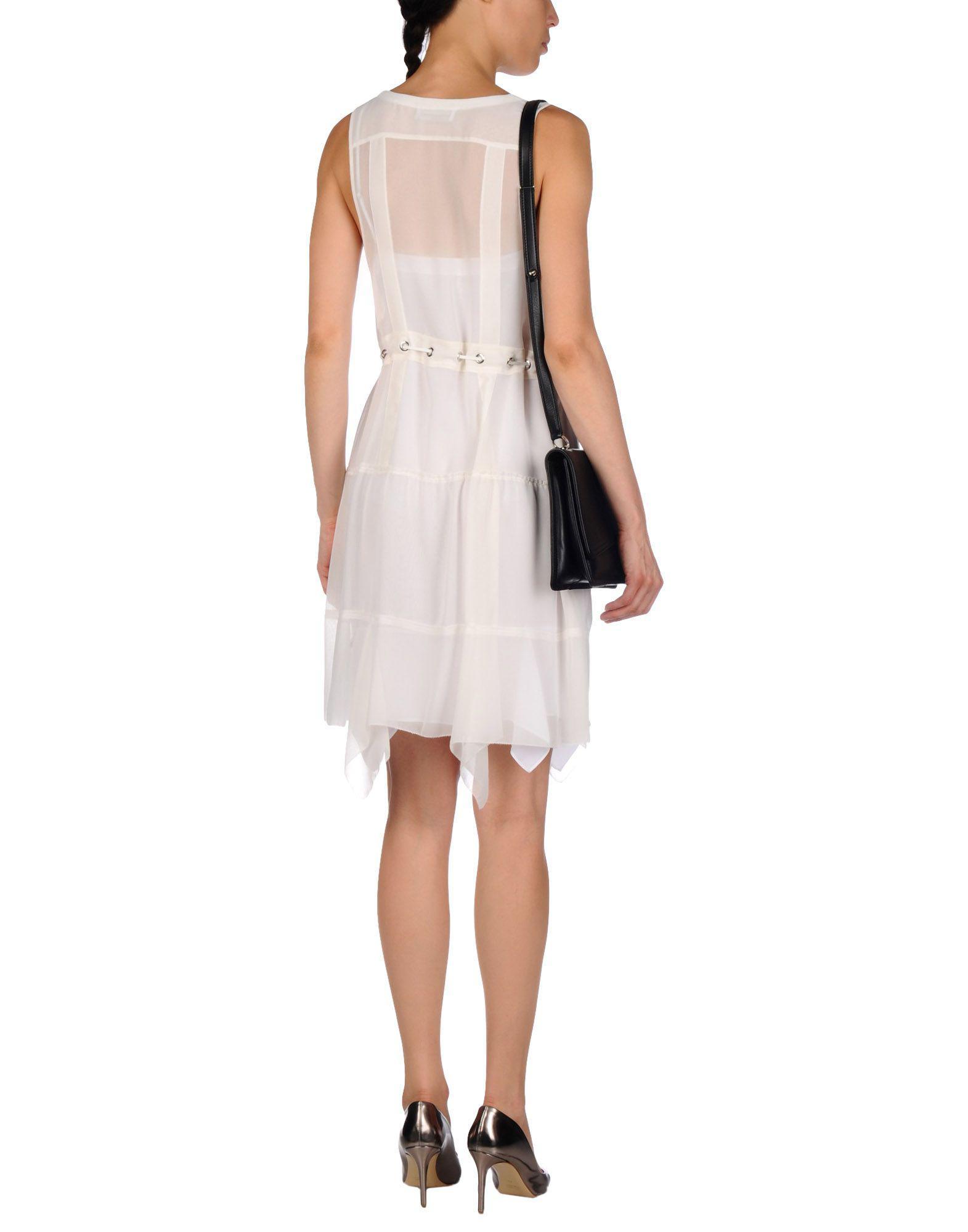 d98e30cbc40 Lyst - Diesel Black Gold Short Dress in White